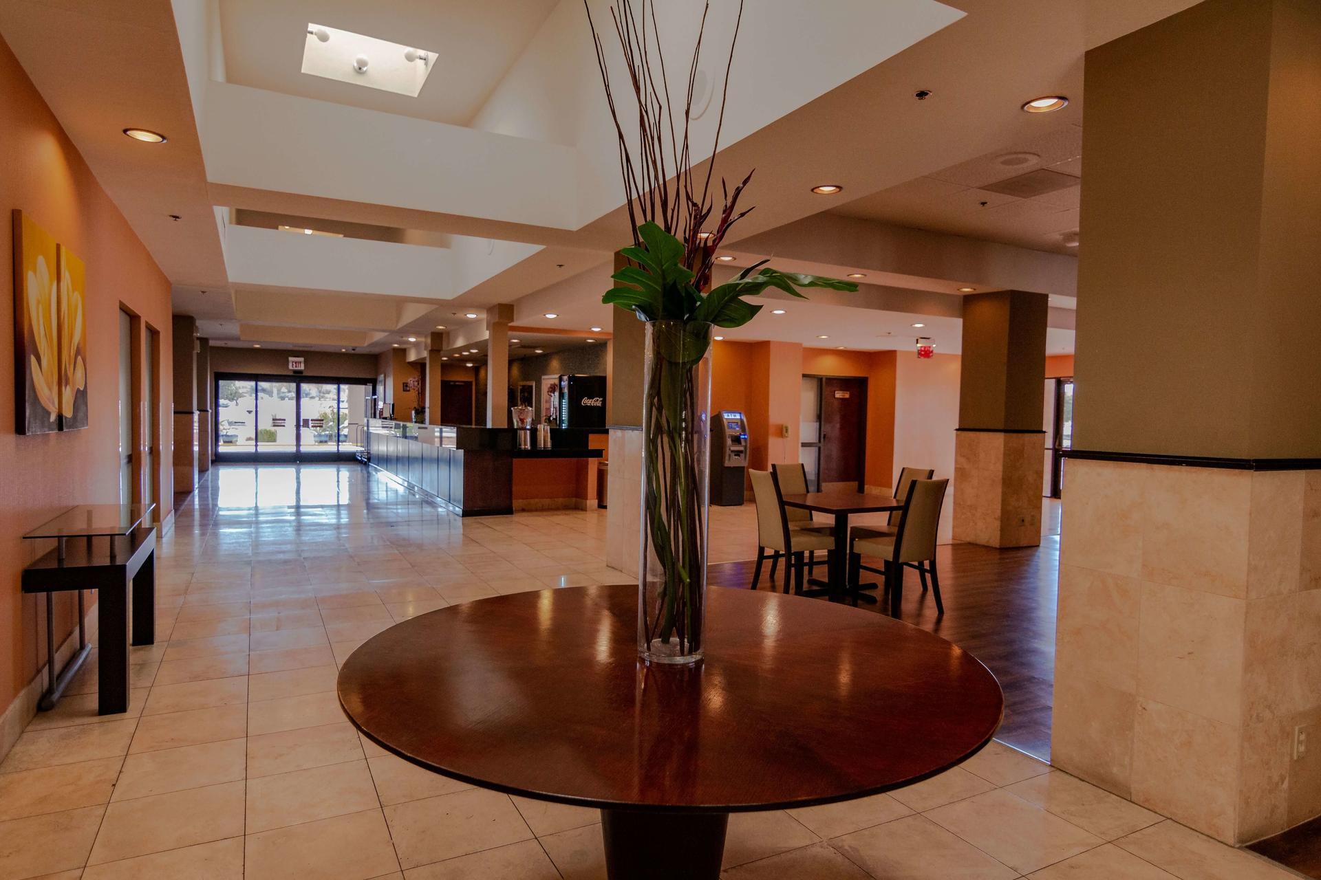Lobby hall and reception area.