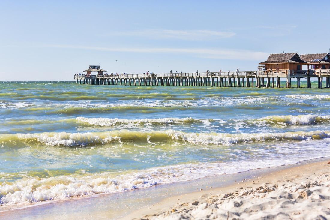 Ocean waves and pier.