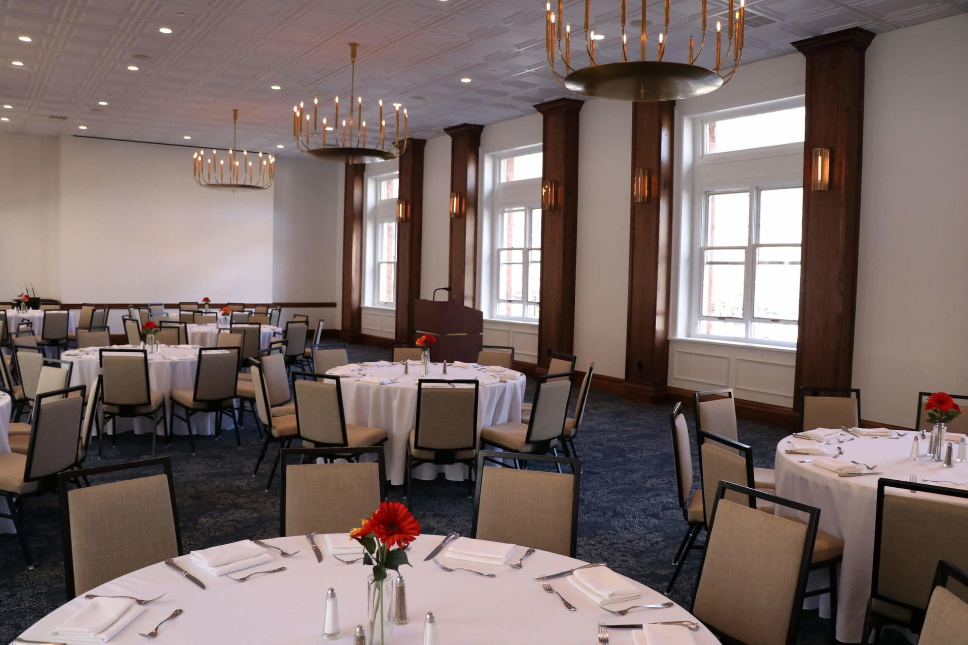 Colorado Ballroom set up for corporate event at Hotel Colorado