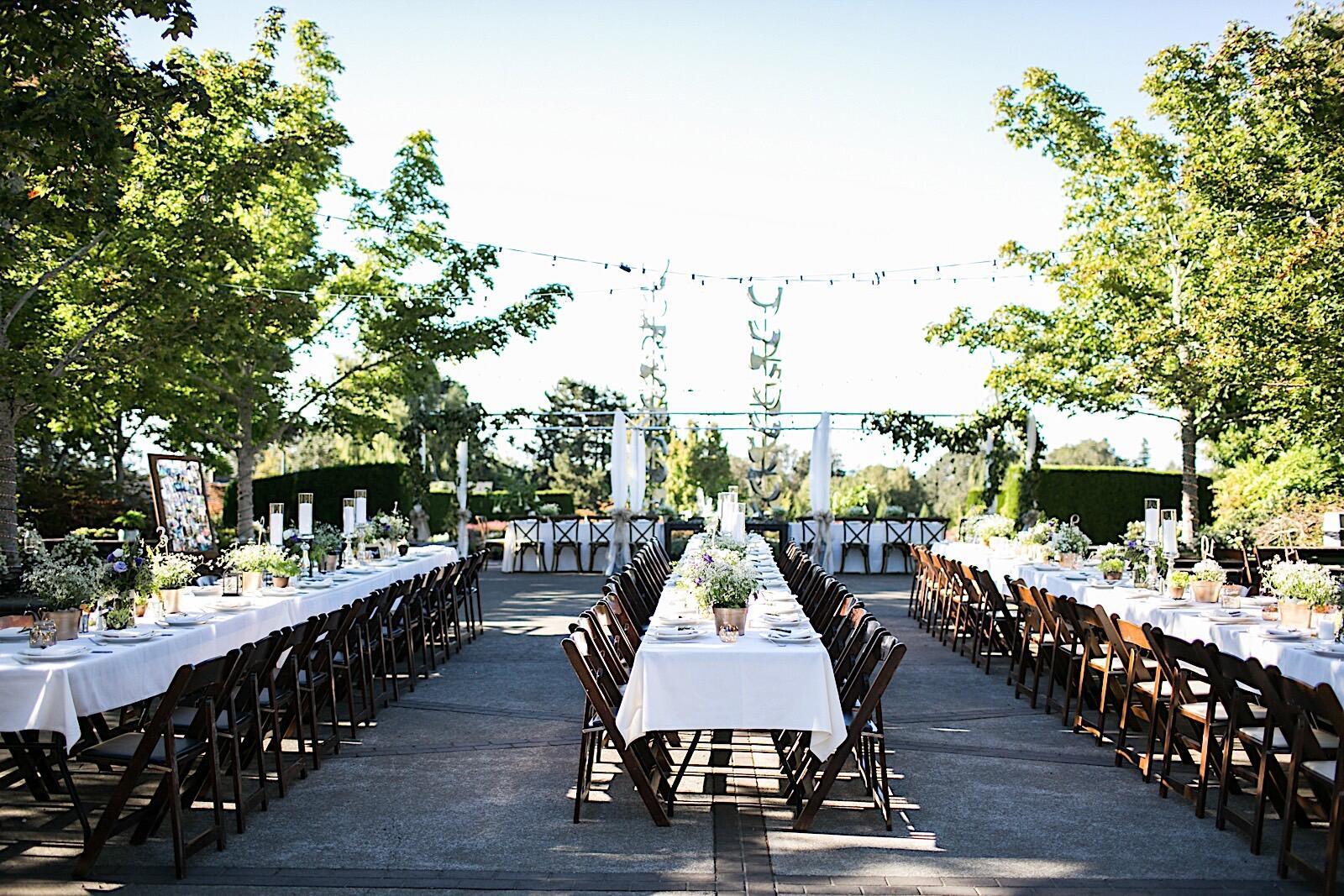 Outdoor wedding venue.