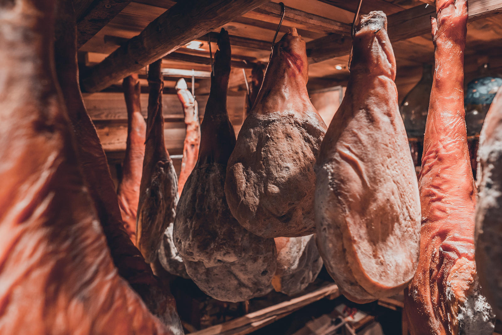 Dried Hams at Hotel Les Gentianettes, The Originals Relais