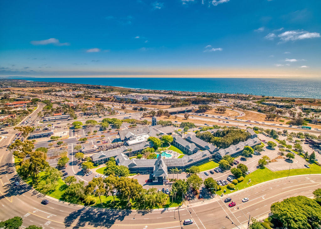 Arial View of Carls Bad By The Sea