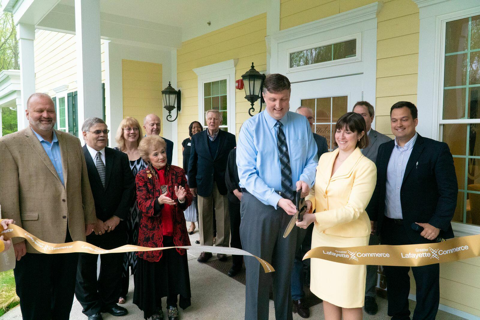Ribbon cutting and grand opening.