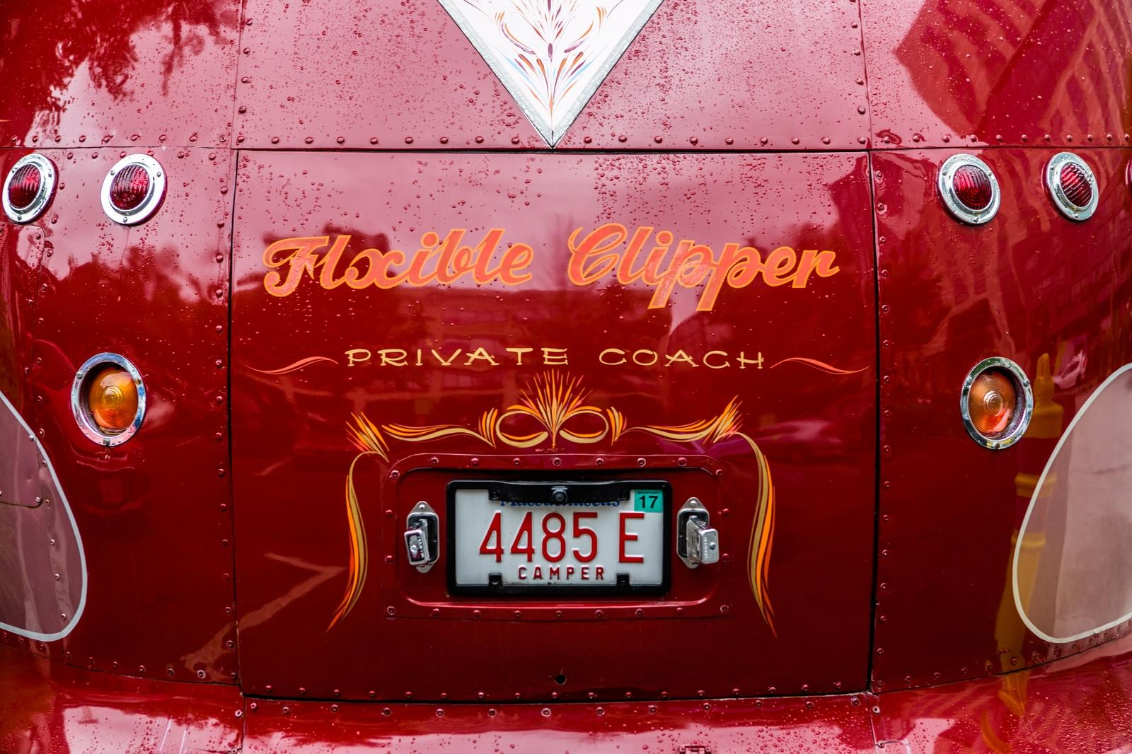 Back bumper of The Verb Bus