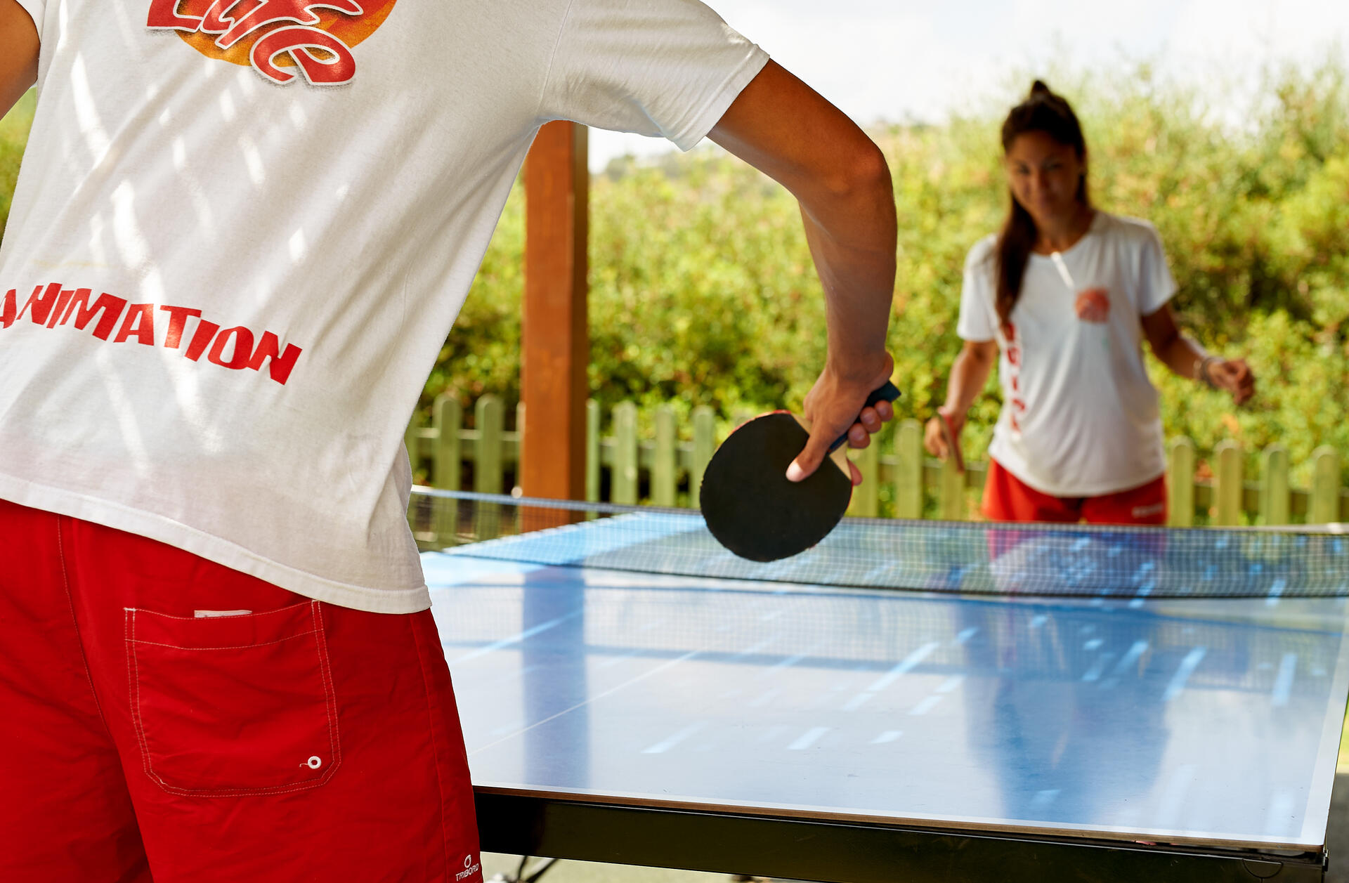 Ping pong at Agapi Beach Resort in Crete, Greece