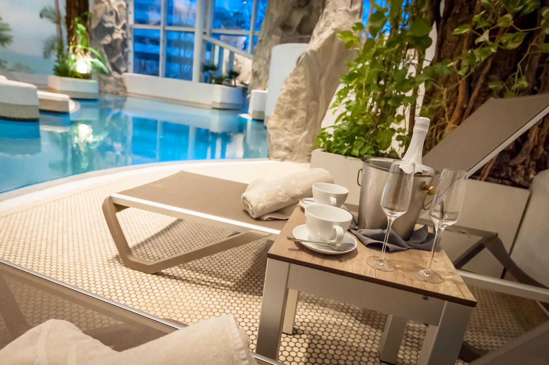 AquaWell SaunaWelten Spa Wellness Erholung Hotel Frankenland Bad
