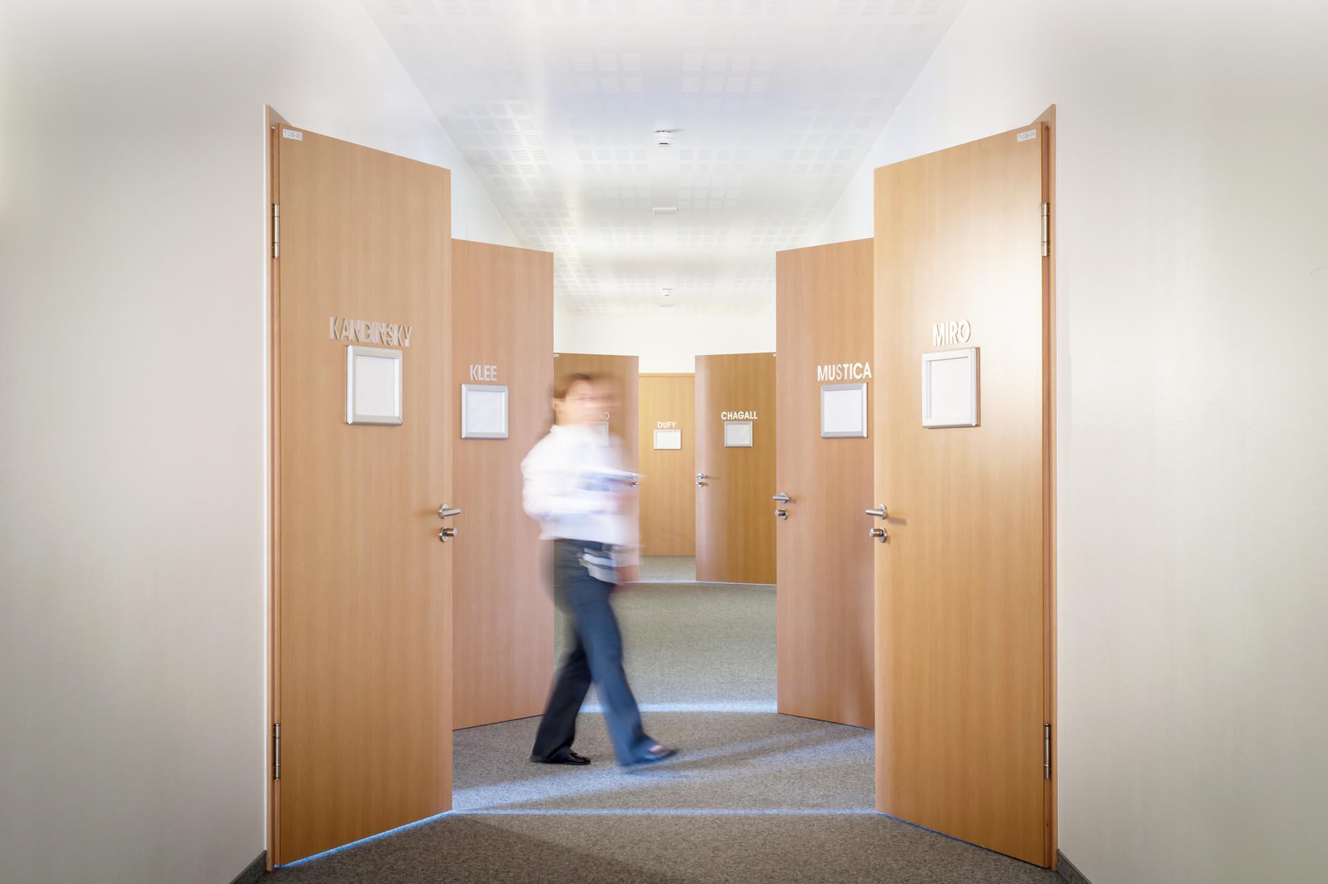 Corridor at Hotel Frankenland in Bad Kissingen, Germany