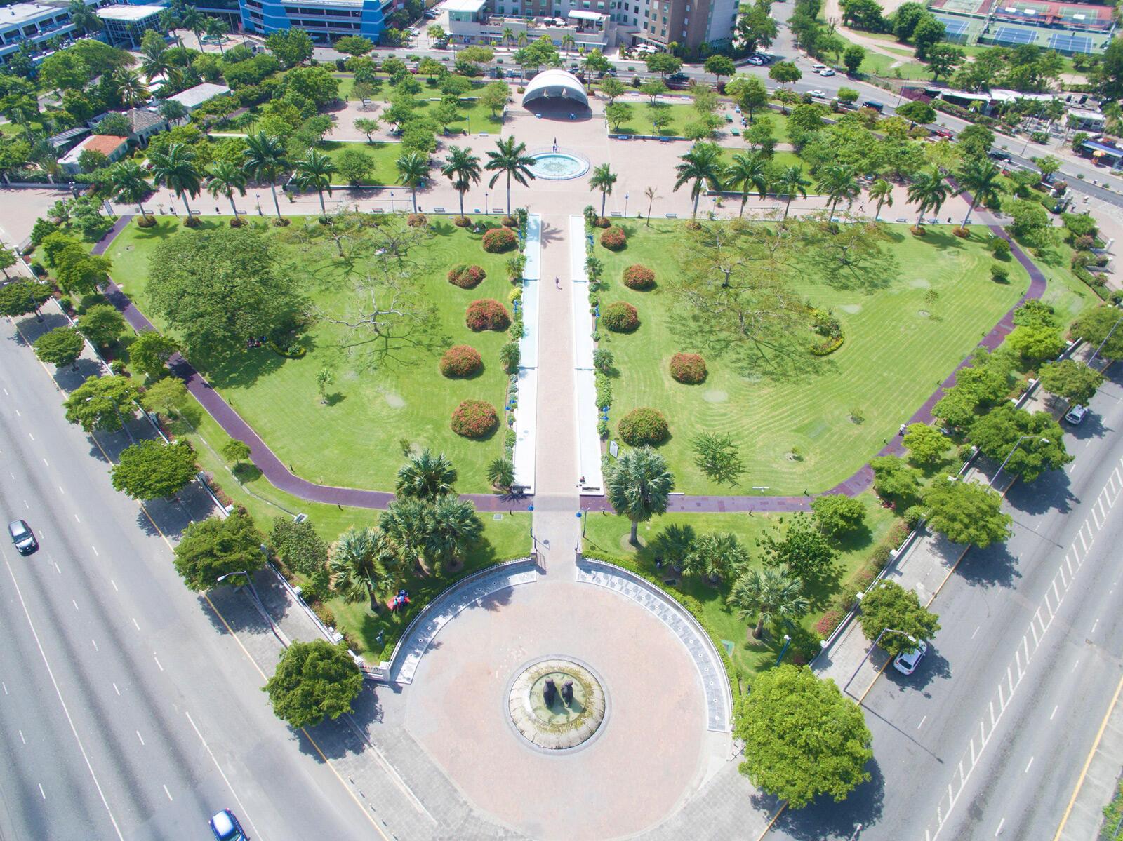 Emancipation Park Overhead