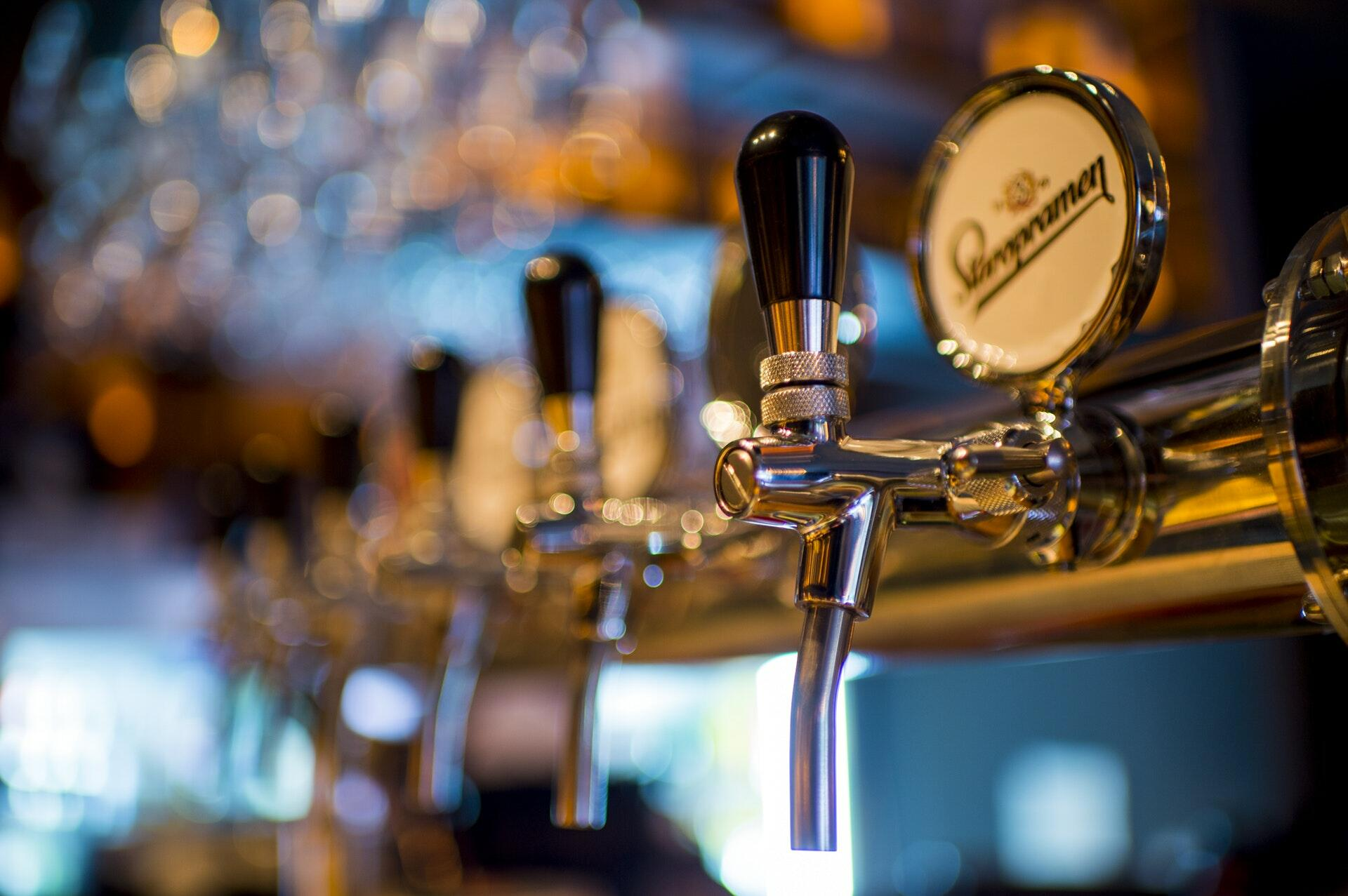 Beer Taps at Lodge Bar & Cafe - Yarra Valley Lodge