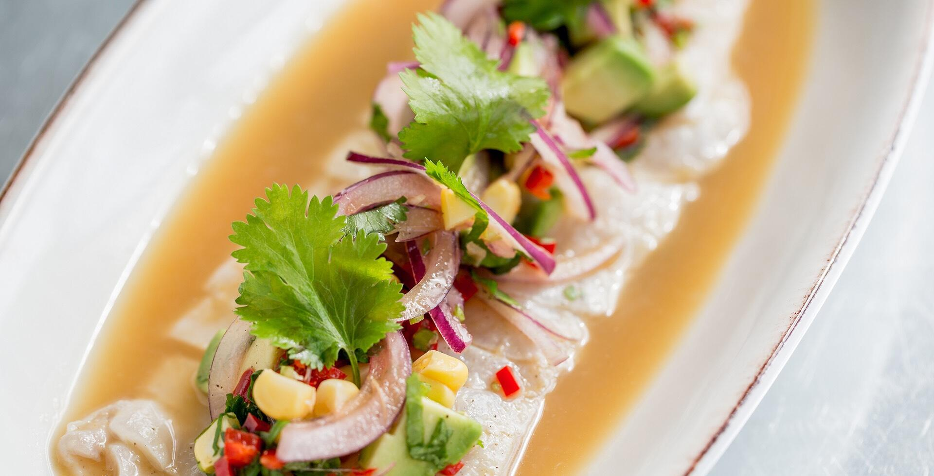 Sea Bass Ceviche At Leicester Square Kitchen