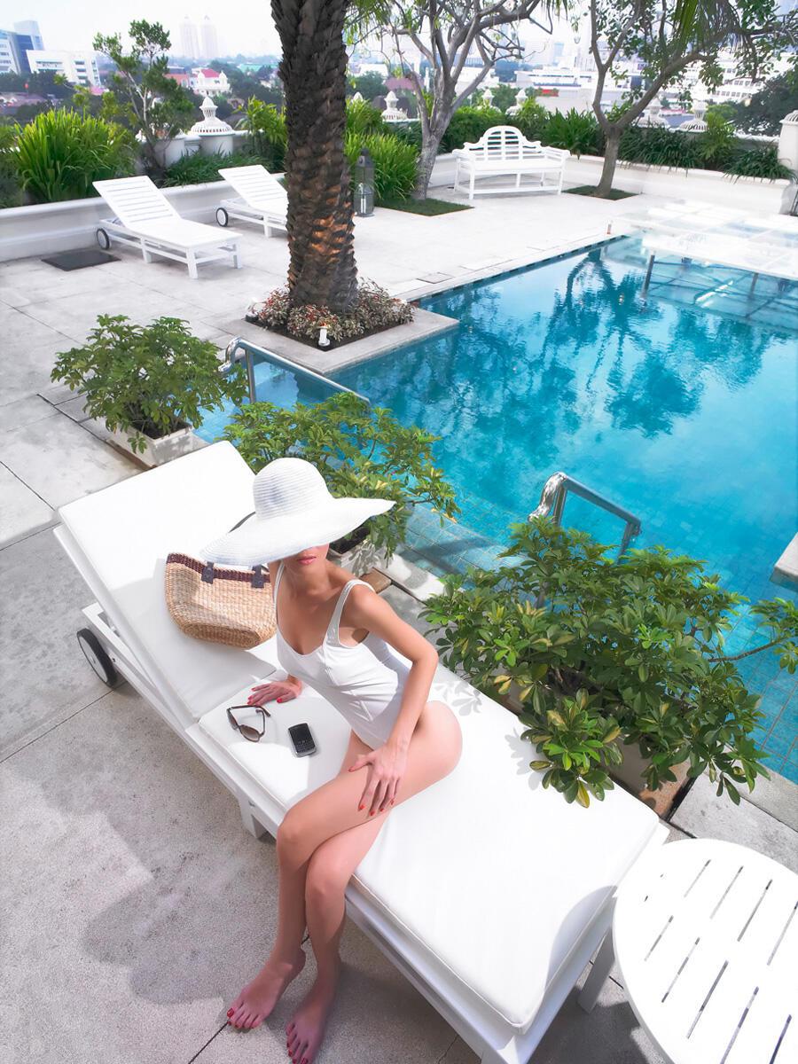 Pool at Hotel Gran Mahakam in Jakarta, Indonesia