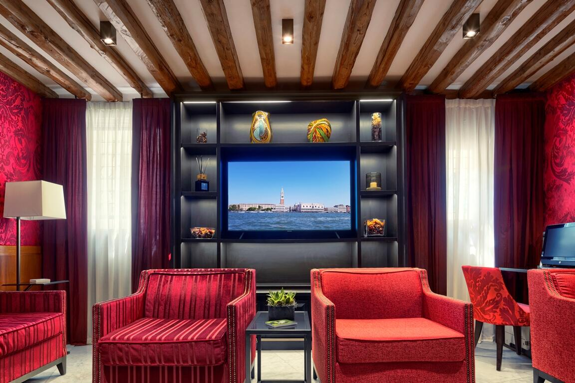 Lobby at Hotel Bisanzio in Venice, Italy