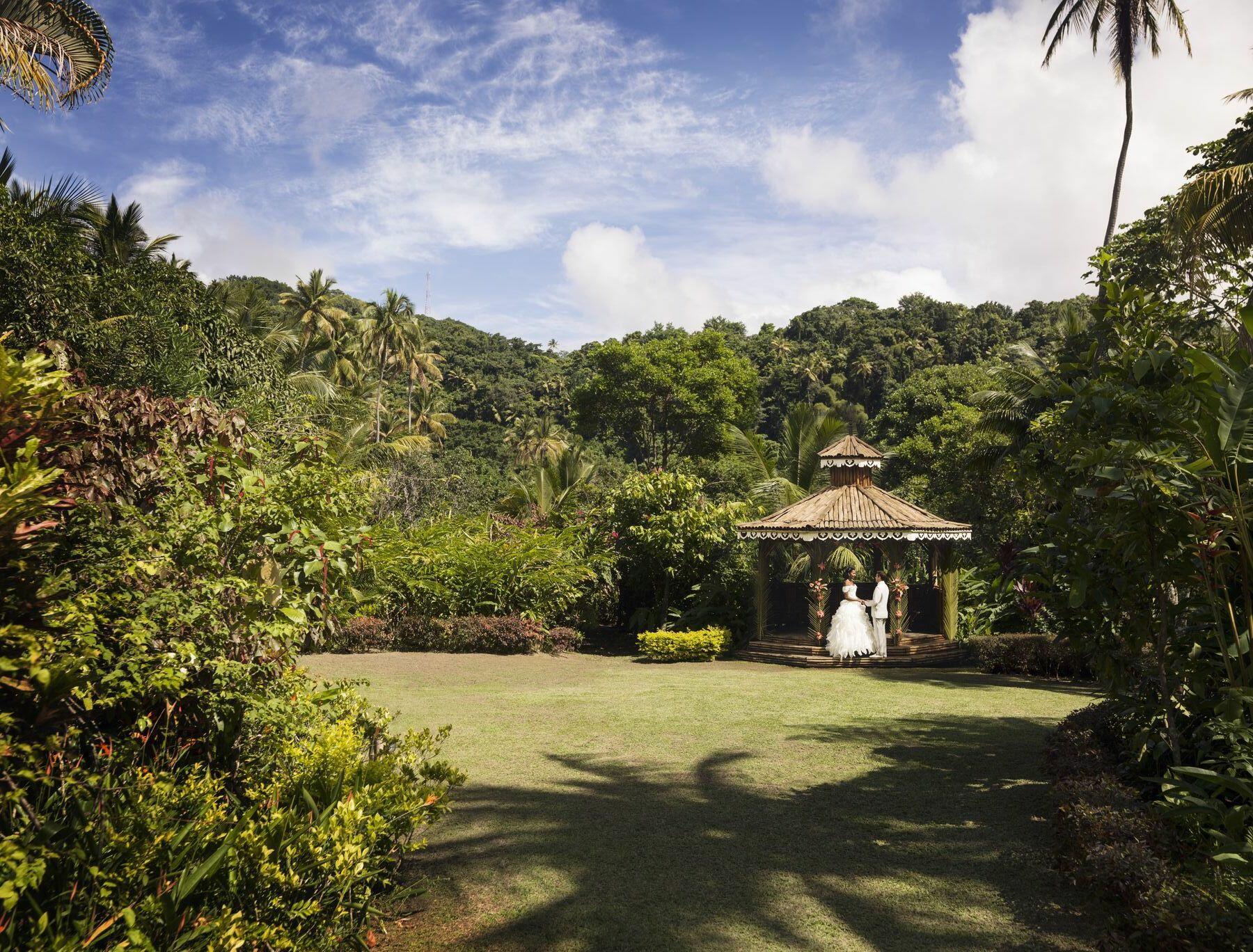 wedding gazebo in tropical setting