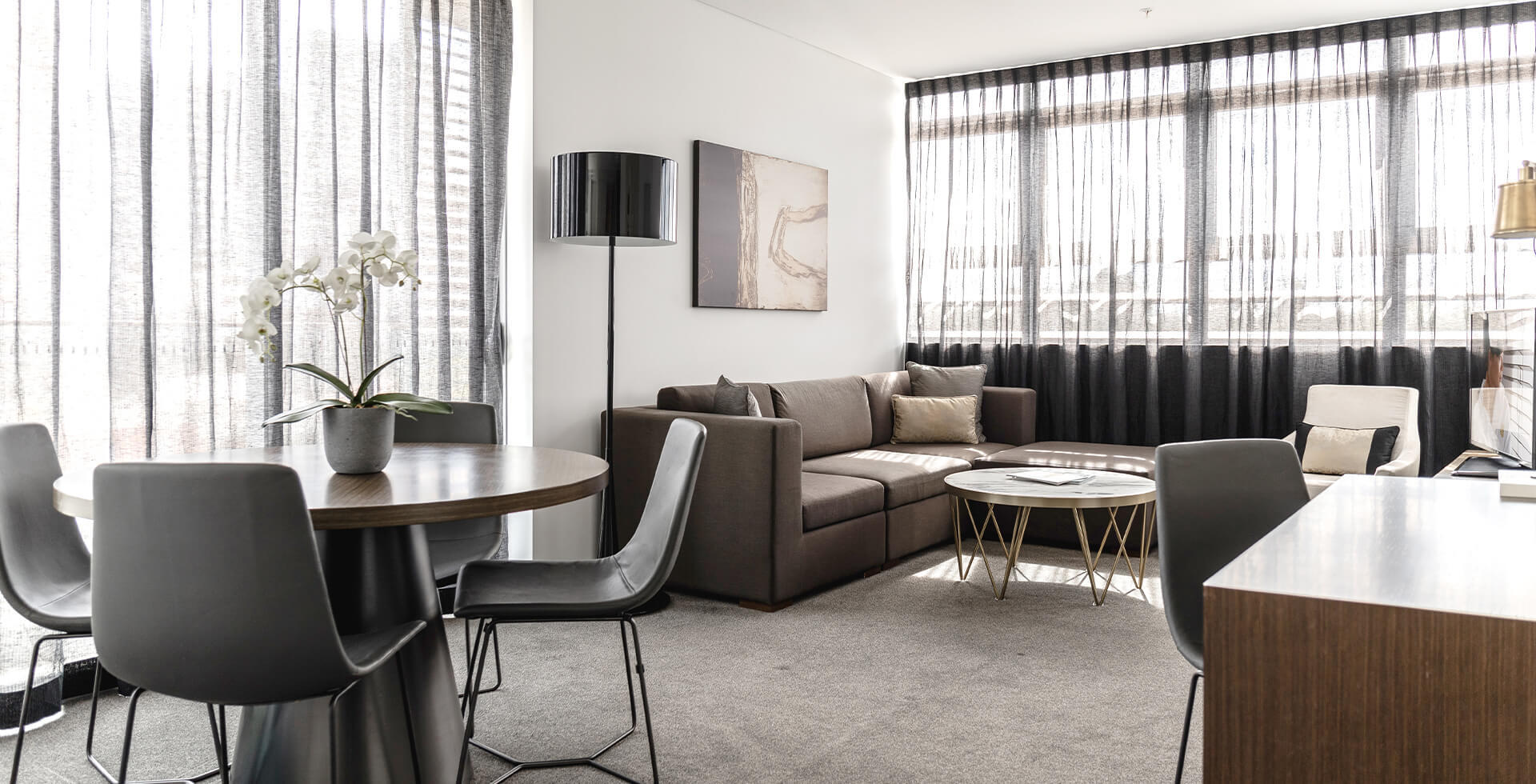 Living Room at Silkari Suites at Chatswood Apartments