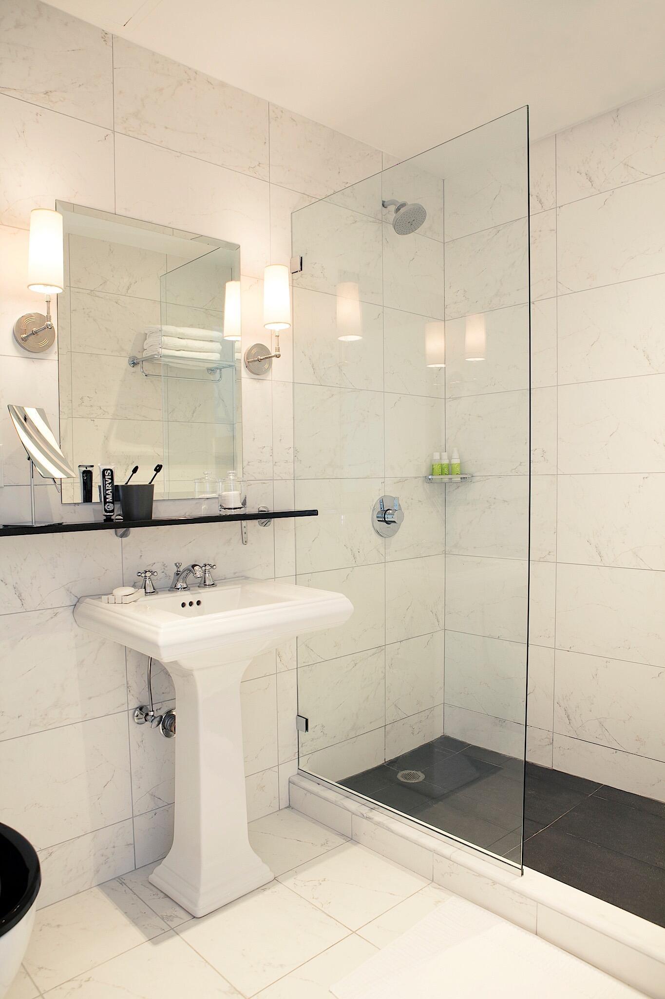 Bathroom Interior with walk-in shower