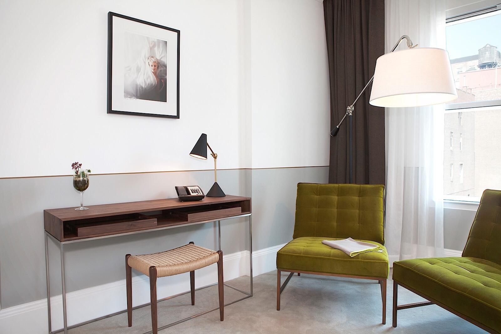 Work Desk and Sitting Area in Junior Suite