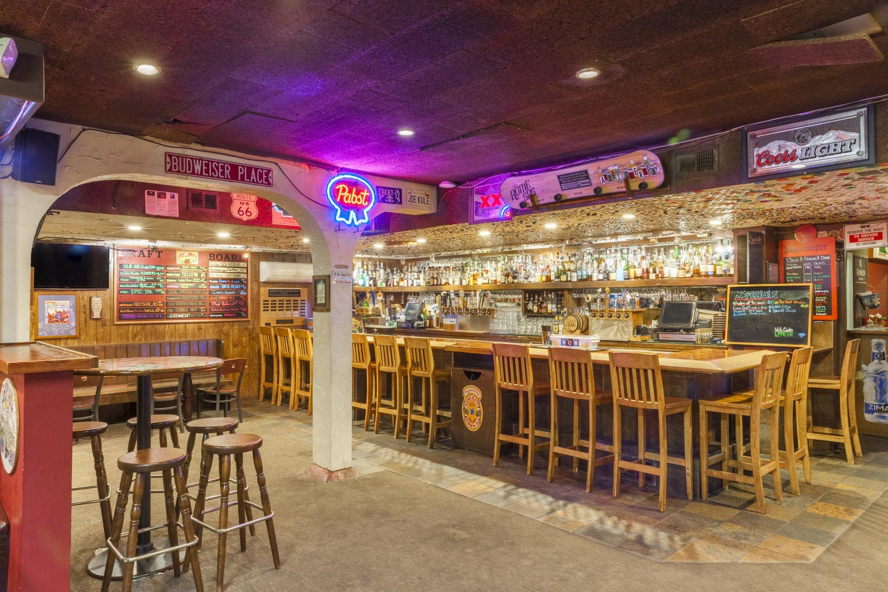 bar with bar height stools