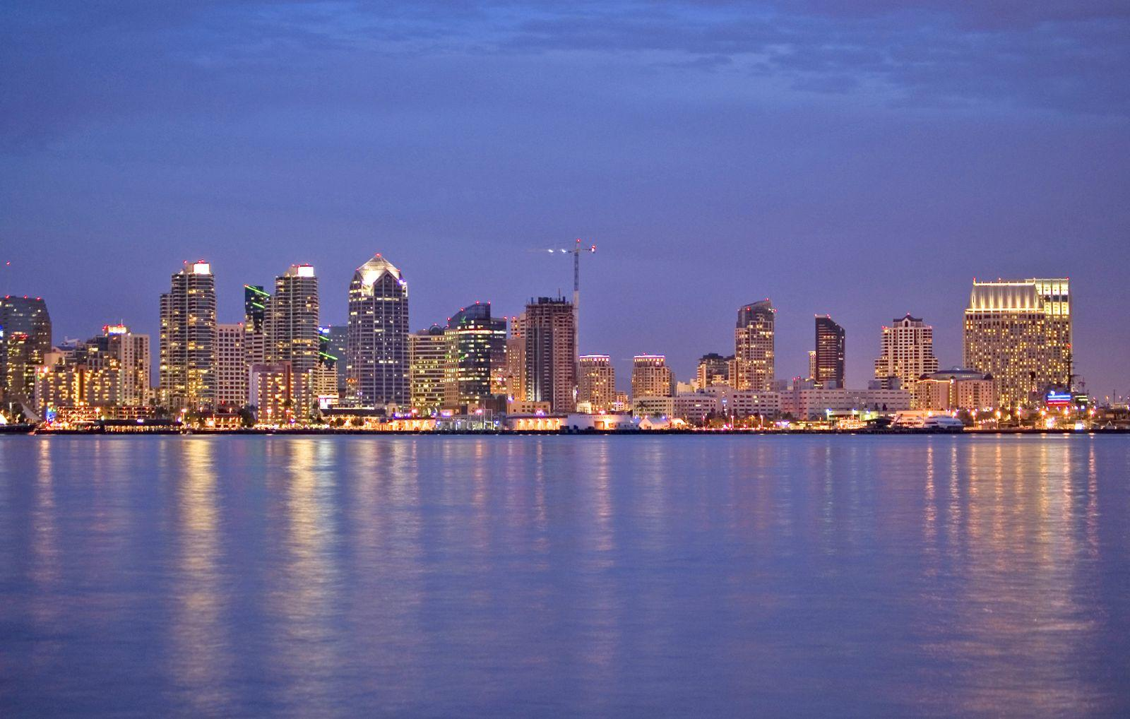 Gorgeous view of downtown San Diego sky line from the San Diego