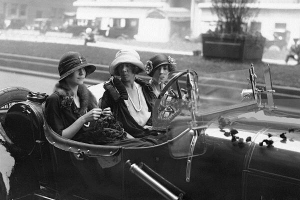 A group of women in a car