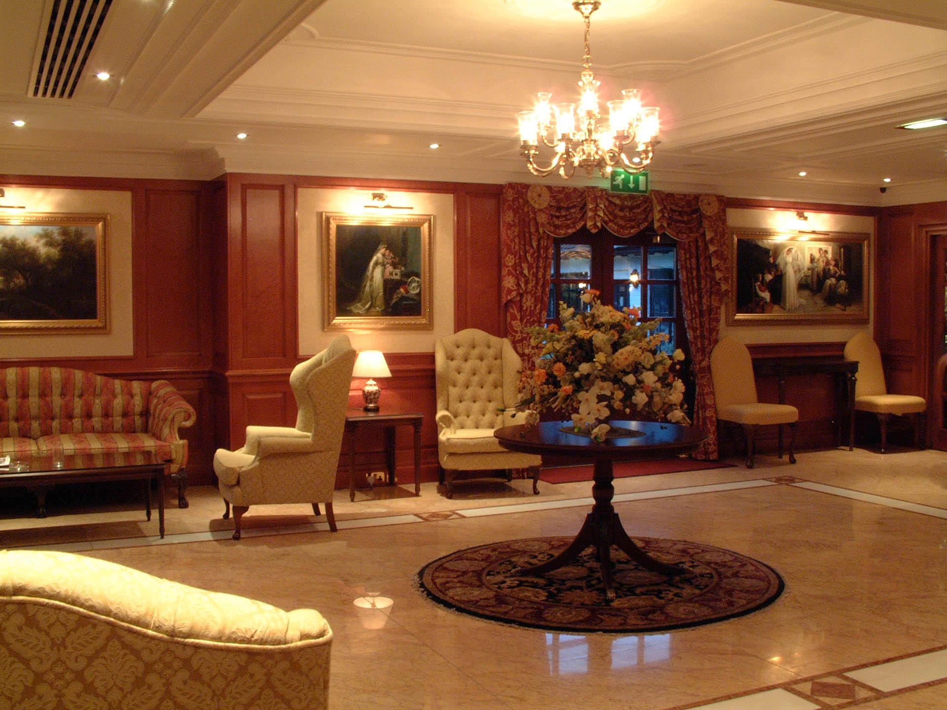 Lobby at The Barn Hotel, Ruislip