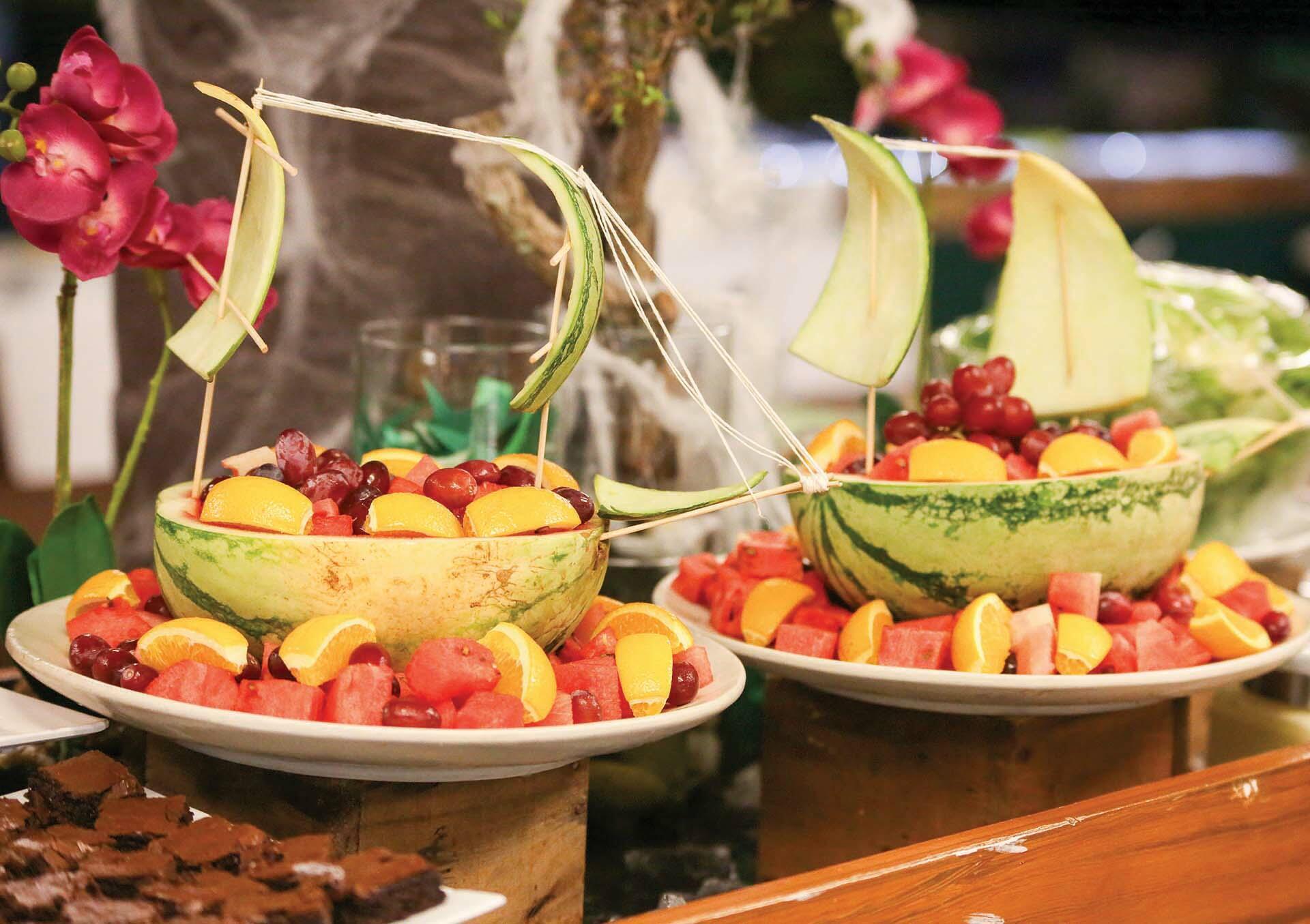 Food options at Acuaverde Beach Resort