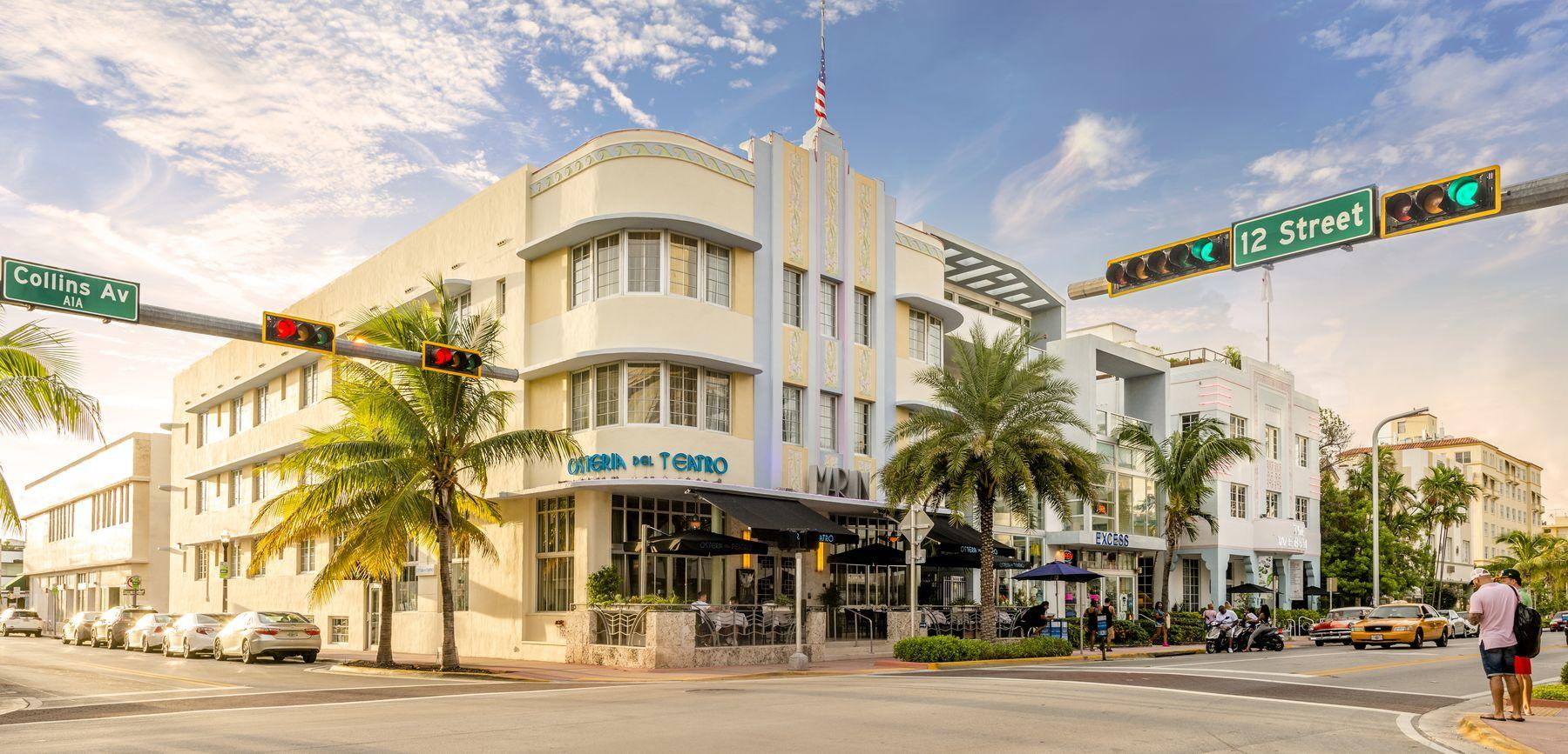 hotel building at the intersection of 12 street and collins ave