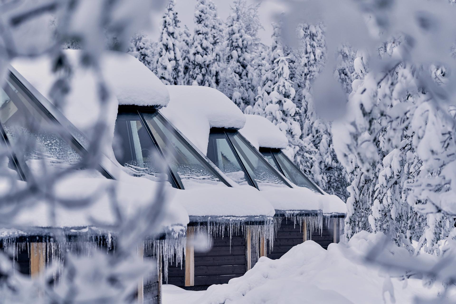 Northern Lights Village Levi in Sirkka, Fin