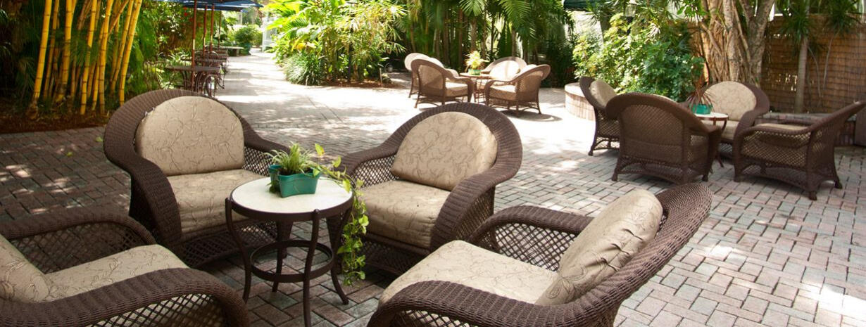 outdoor furniture on patio