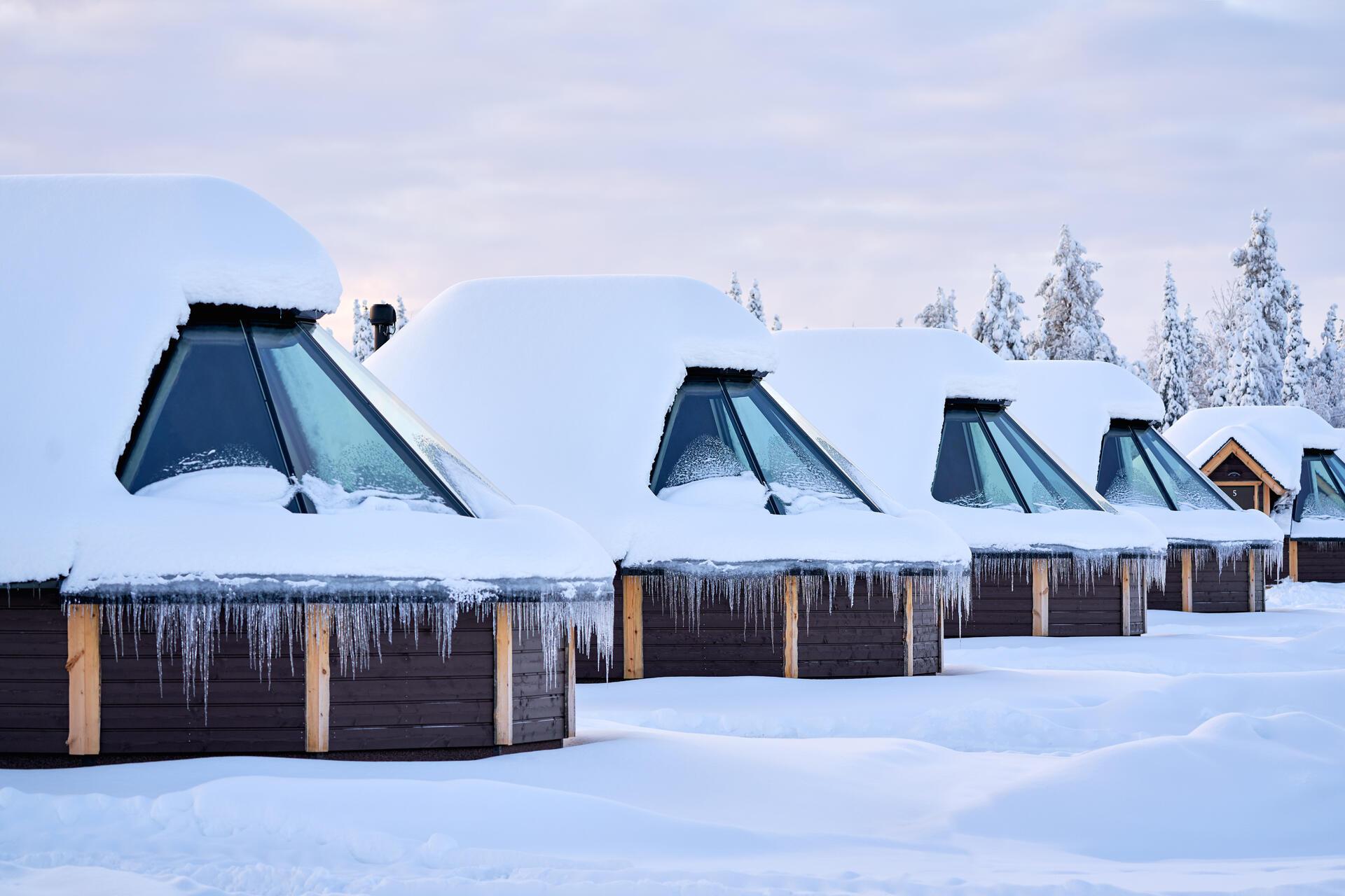 Northern Lights Village Levi in Sirkka, Finland
