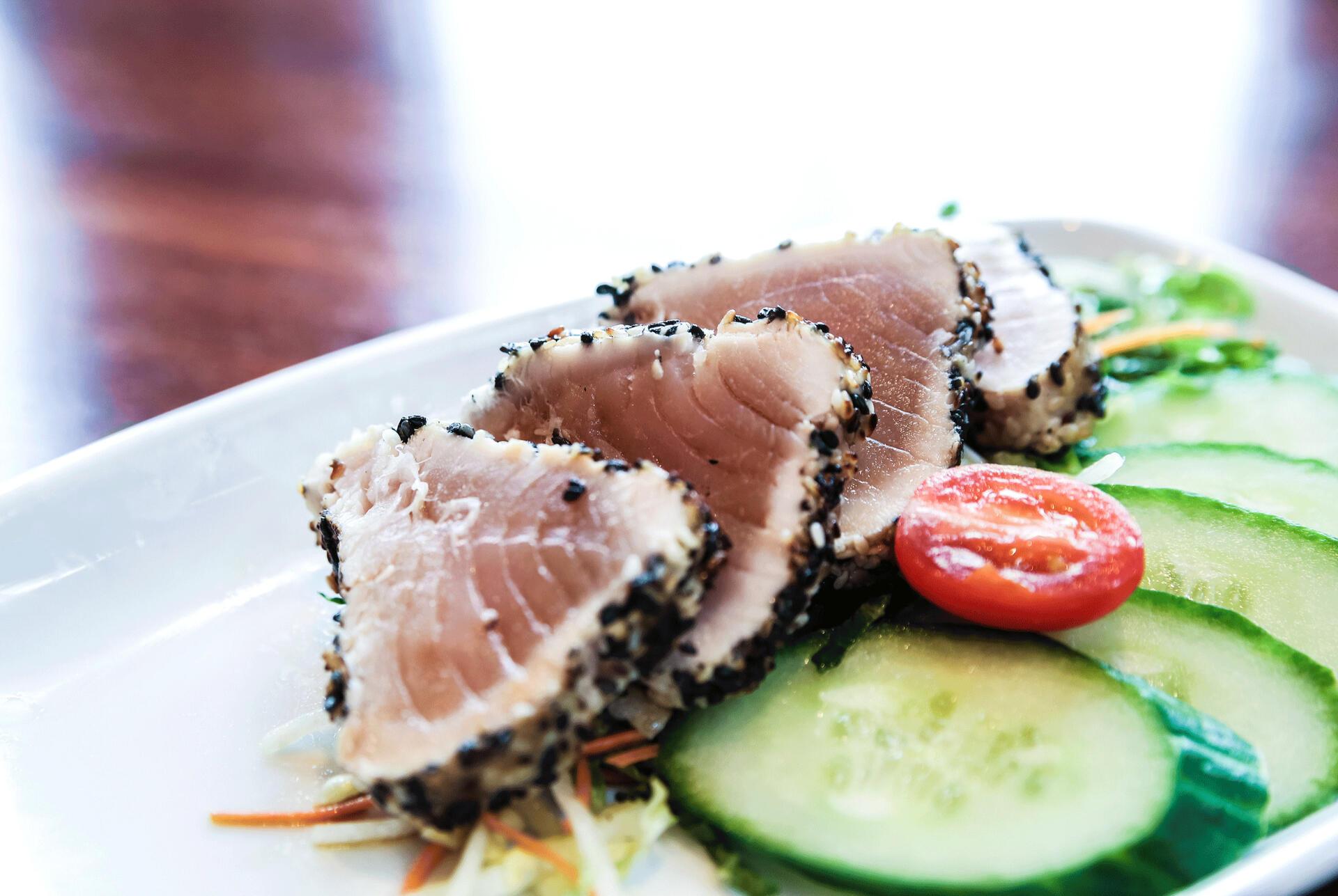cucumber and tuna