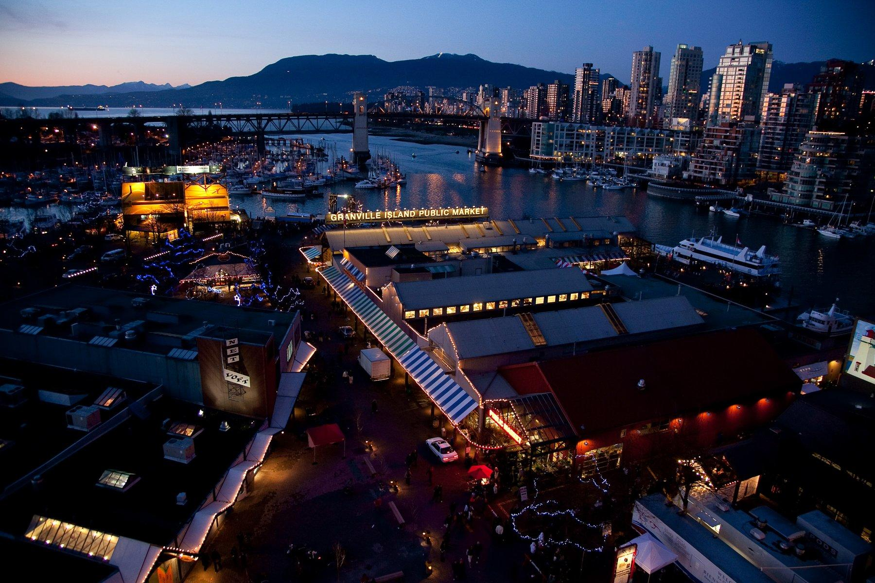 Night view of downtown Vancouver
