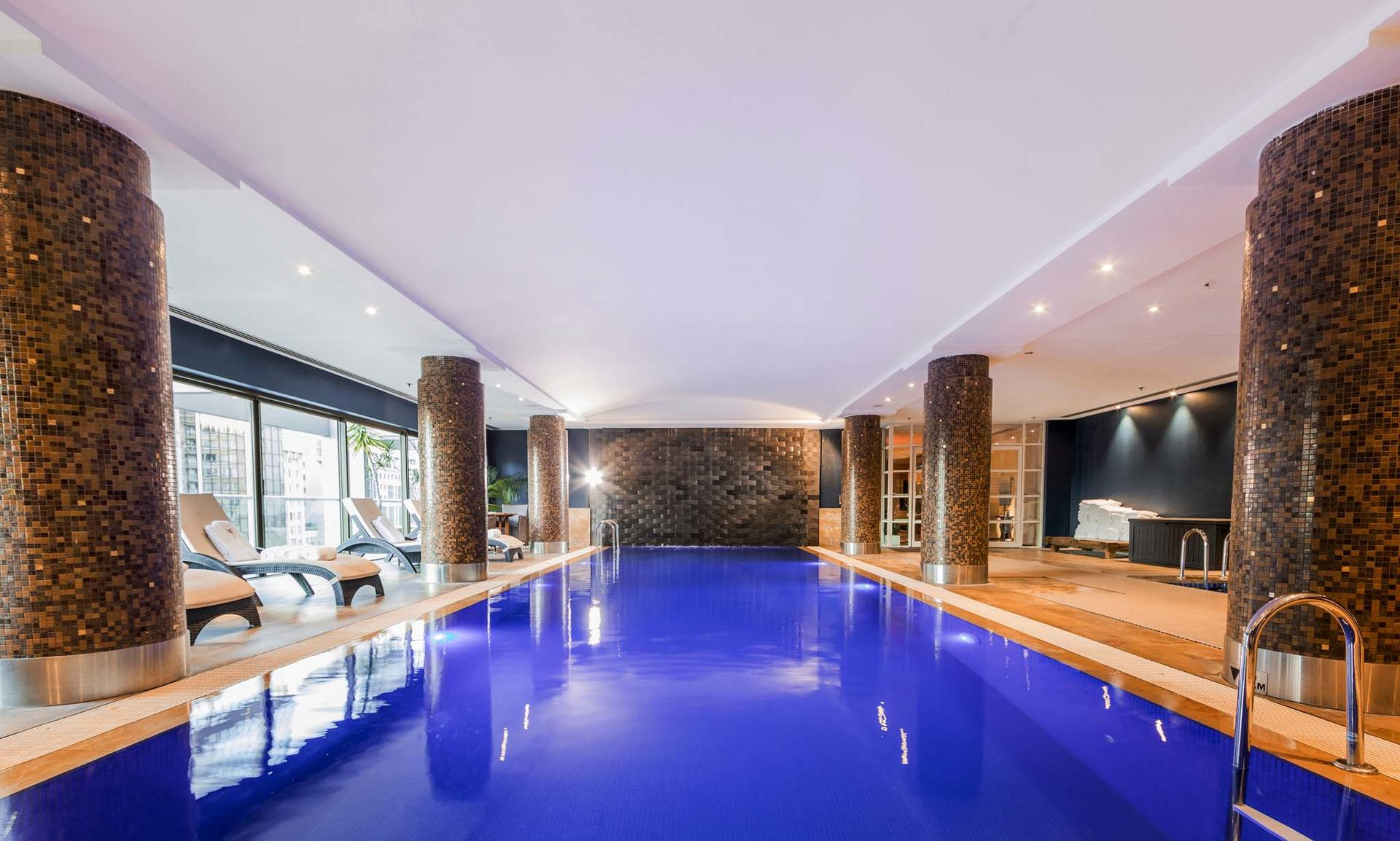 indoor pool at Amora Hotel Jamison Sydney