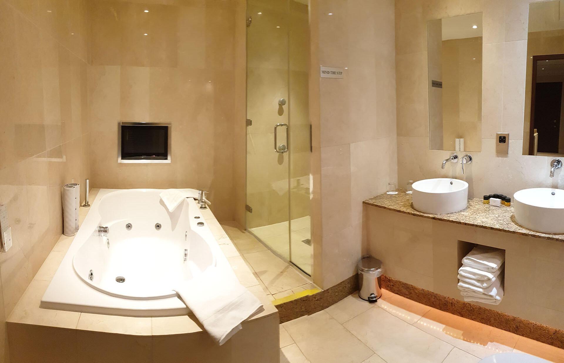 Deans Lodge Junior Suite Bath at The Barn Hotel, Ruislip