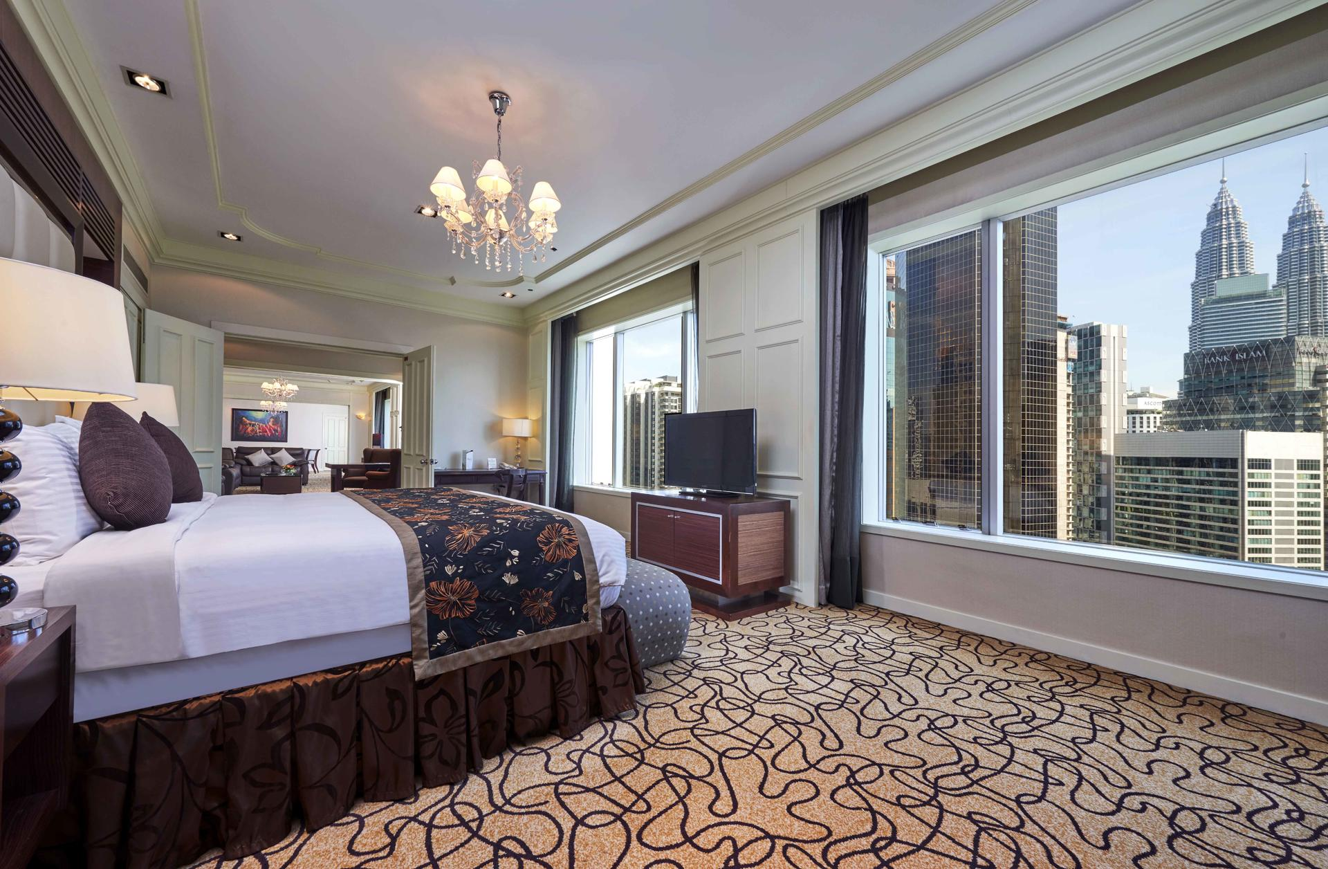 Presidential Suite with a separate living area, furnished with a