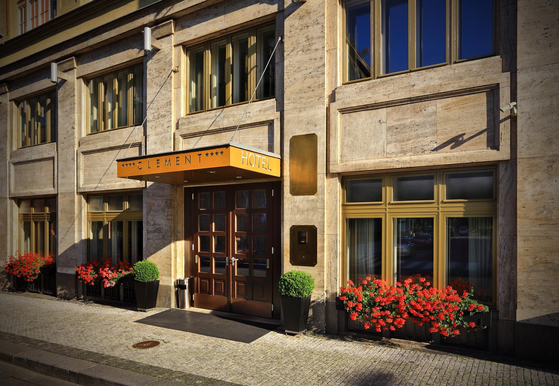 Entrance at Hotel Clement Prague