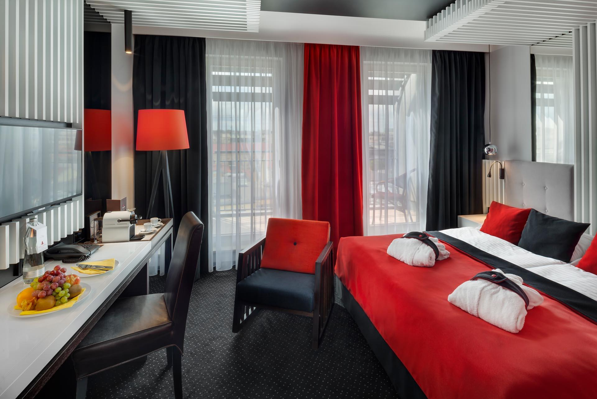 Superior Room with Balcony at Hotel Clement Prague