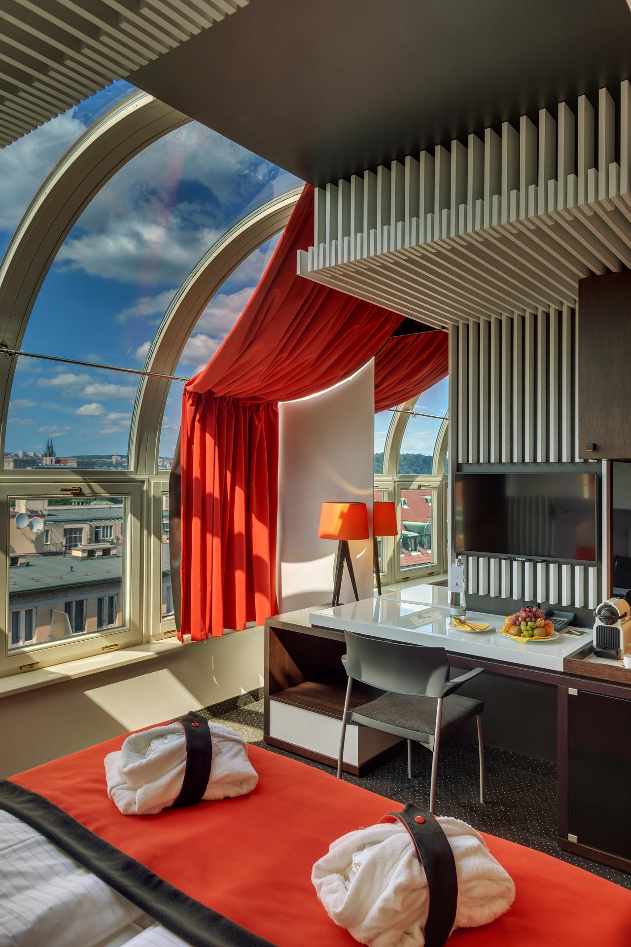 Superior Room with Panoramic Window at Hotel Clement Prague