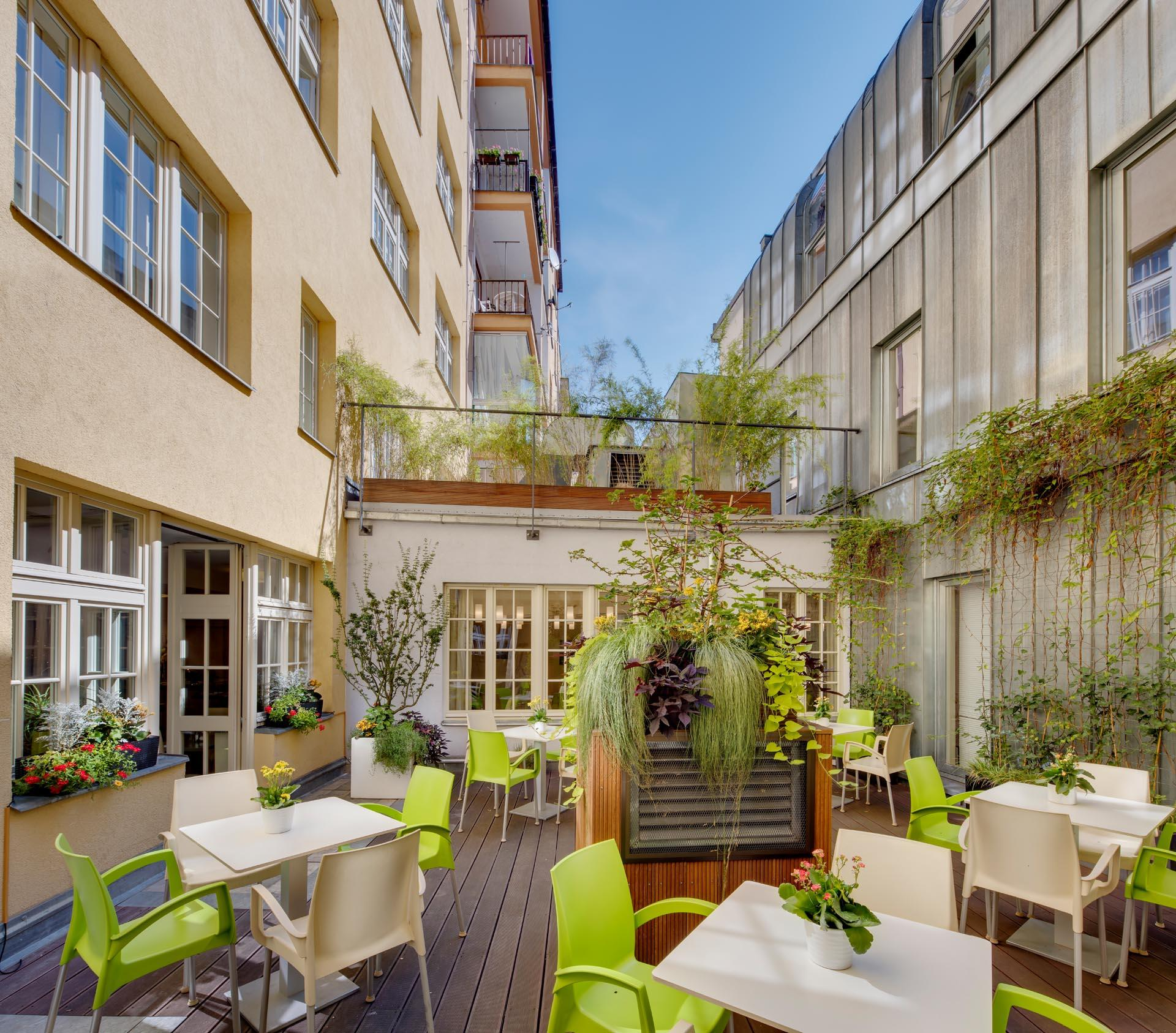 Terrace at Hotel Clement Prague