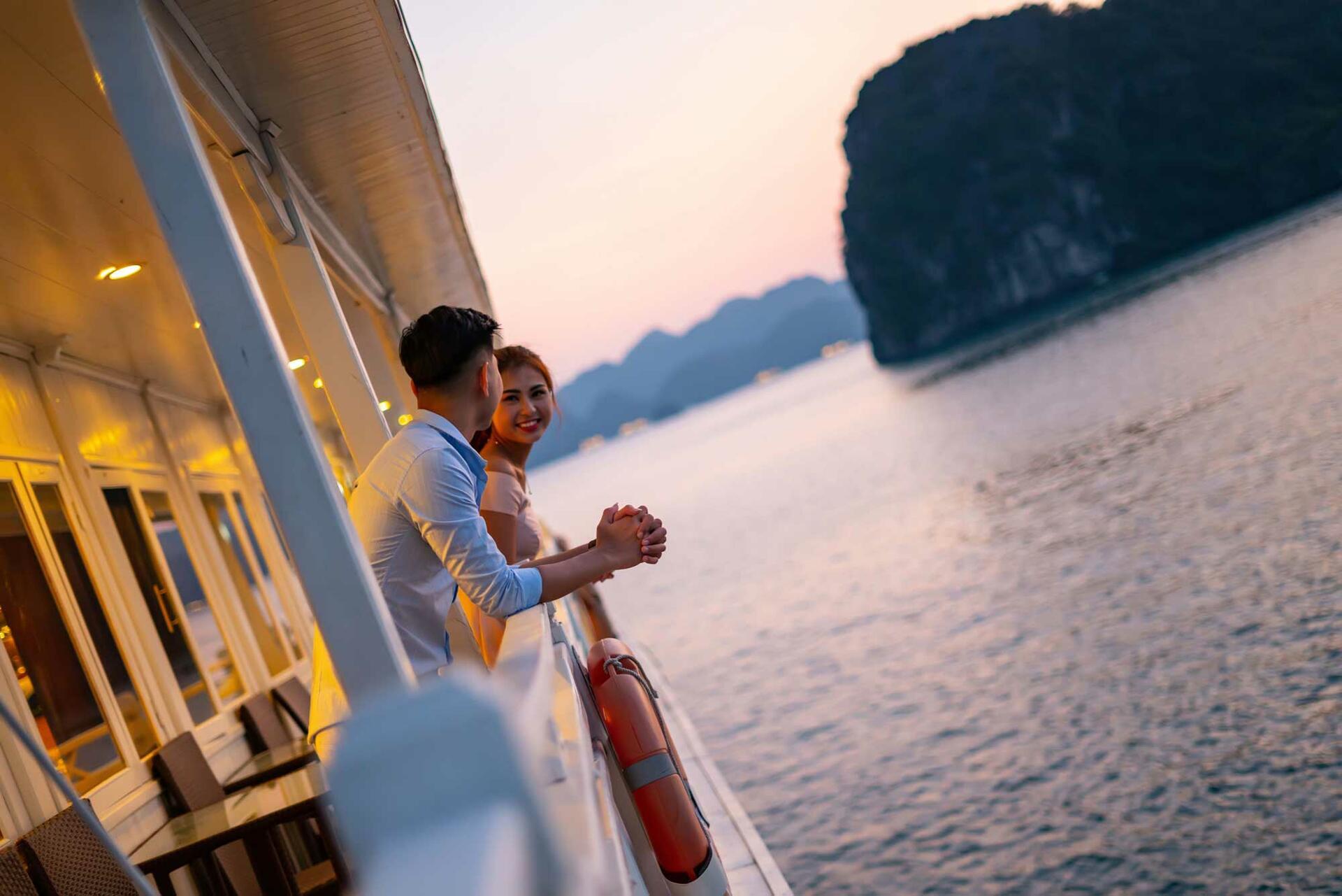 Syrena Cruises - Best Halong Bay Cruises - Balcony View