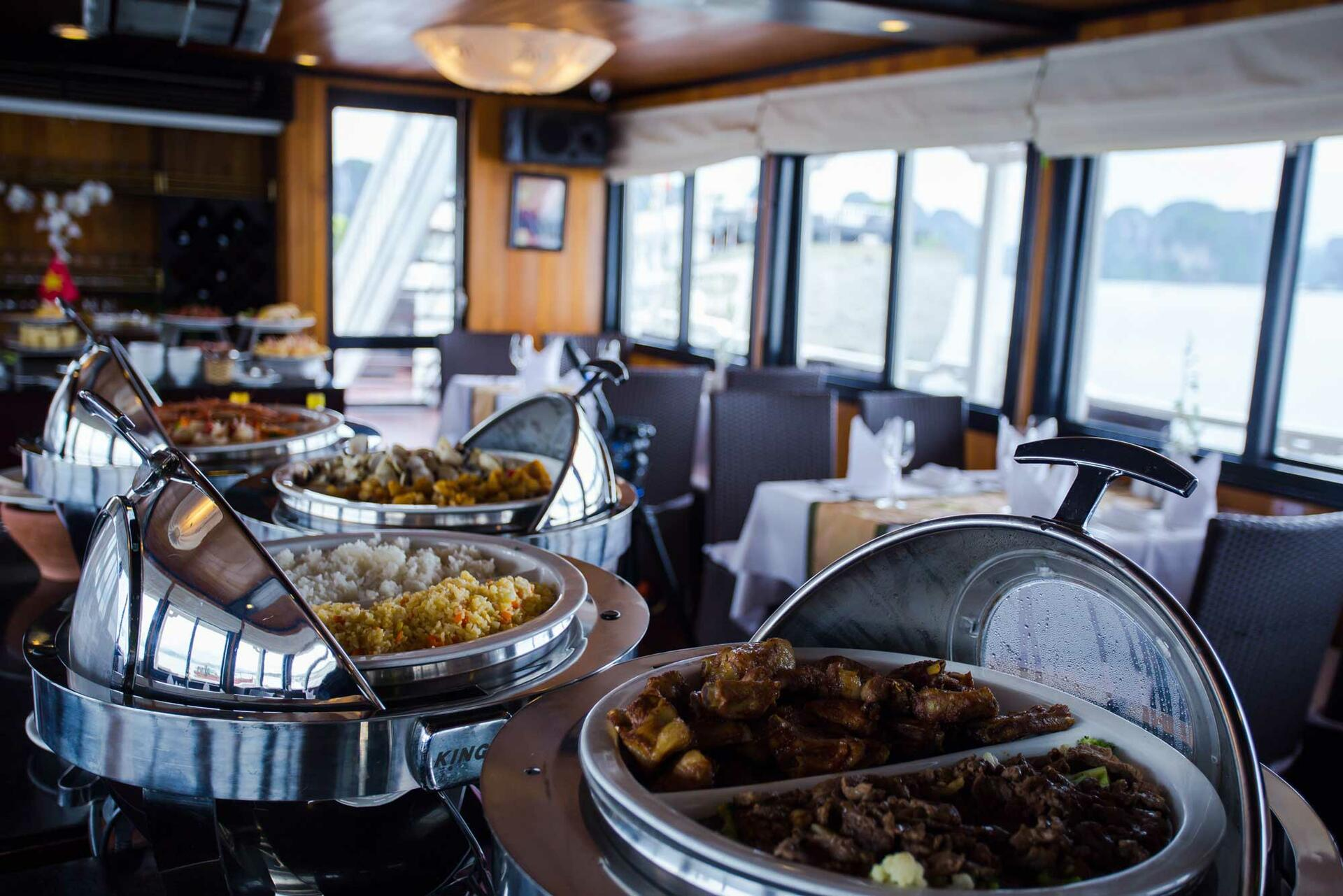 Syrena Cruises - Best Halong Bay Cruises - Lotus Restaurant Buff
