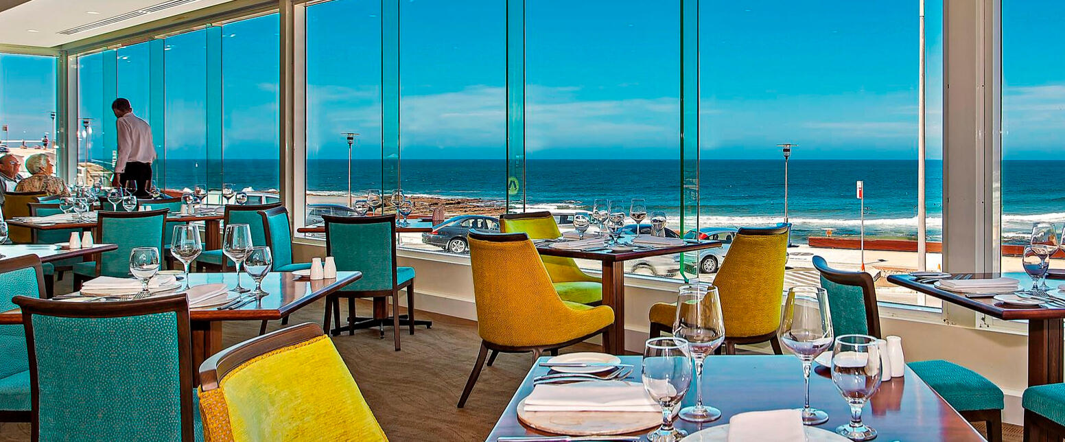 Restaurant seating and view