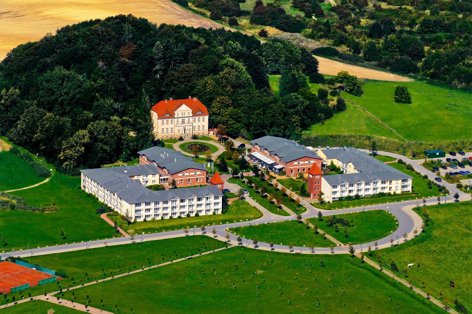 building and garden of Precise Resort Rügen