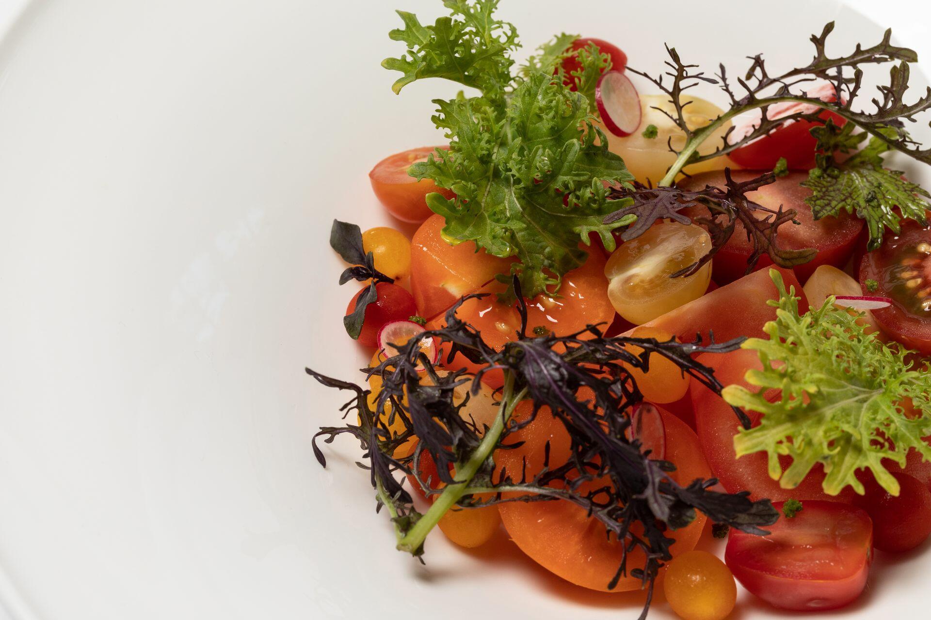 fresh cherry tomato dish