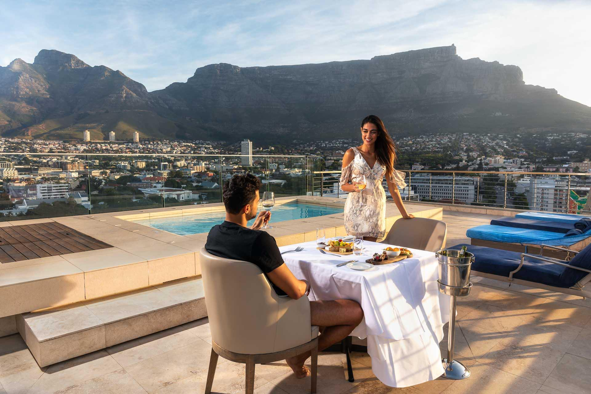 dining by Presidential Suite private pool