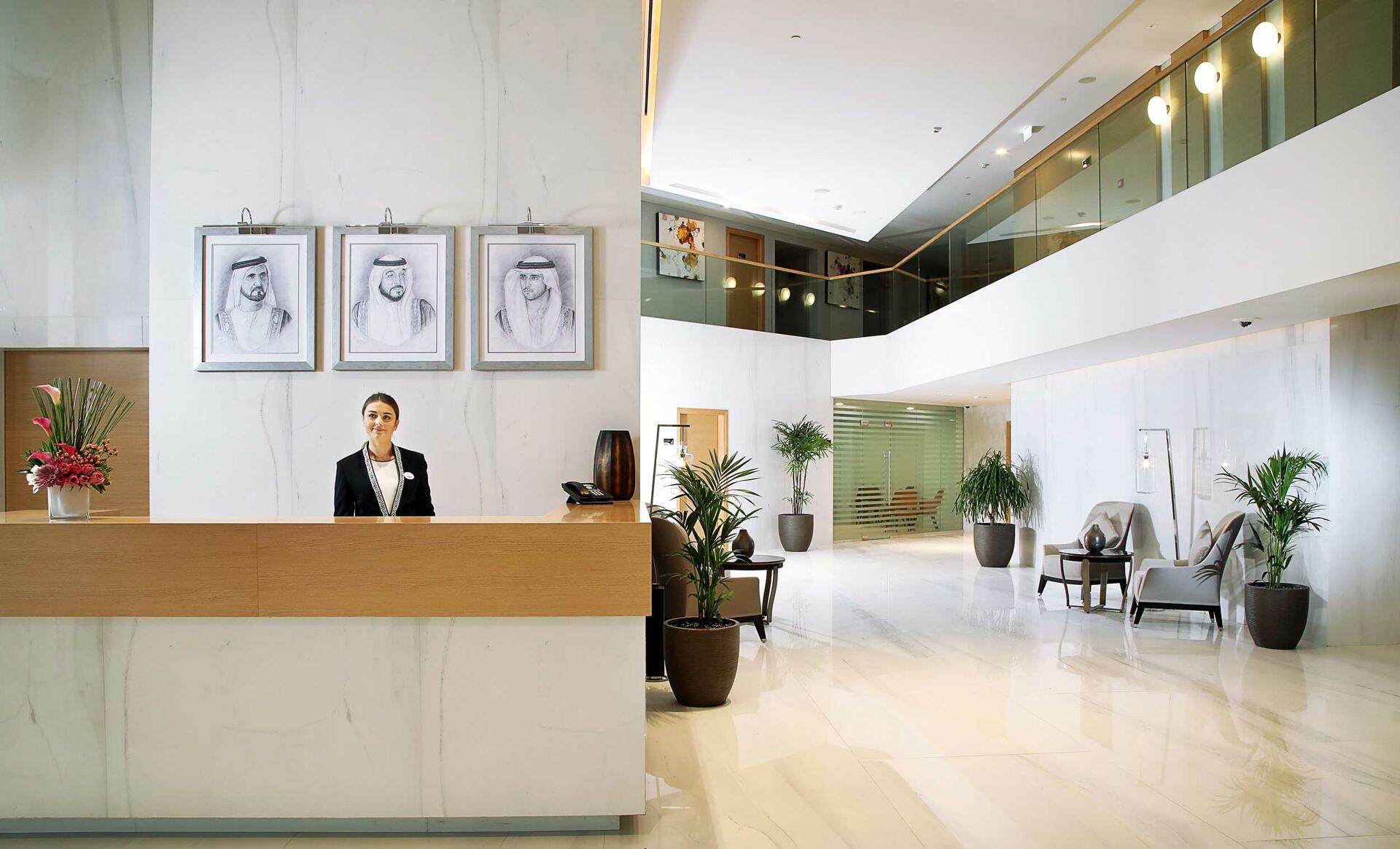 Reception at Grand Cosmopolitan Hotel in Dubai