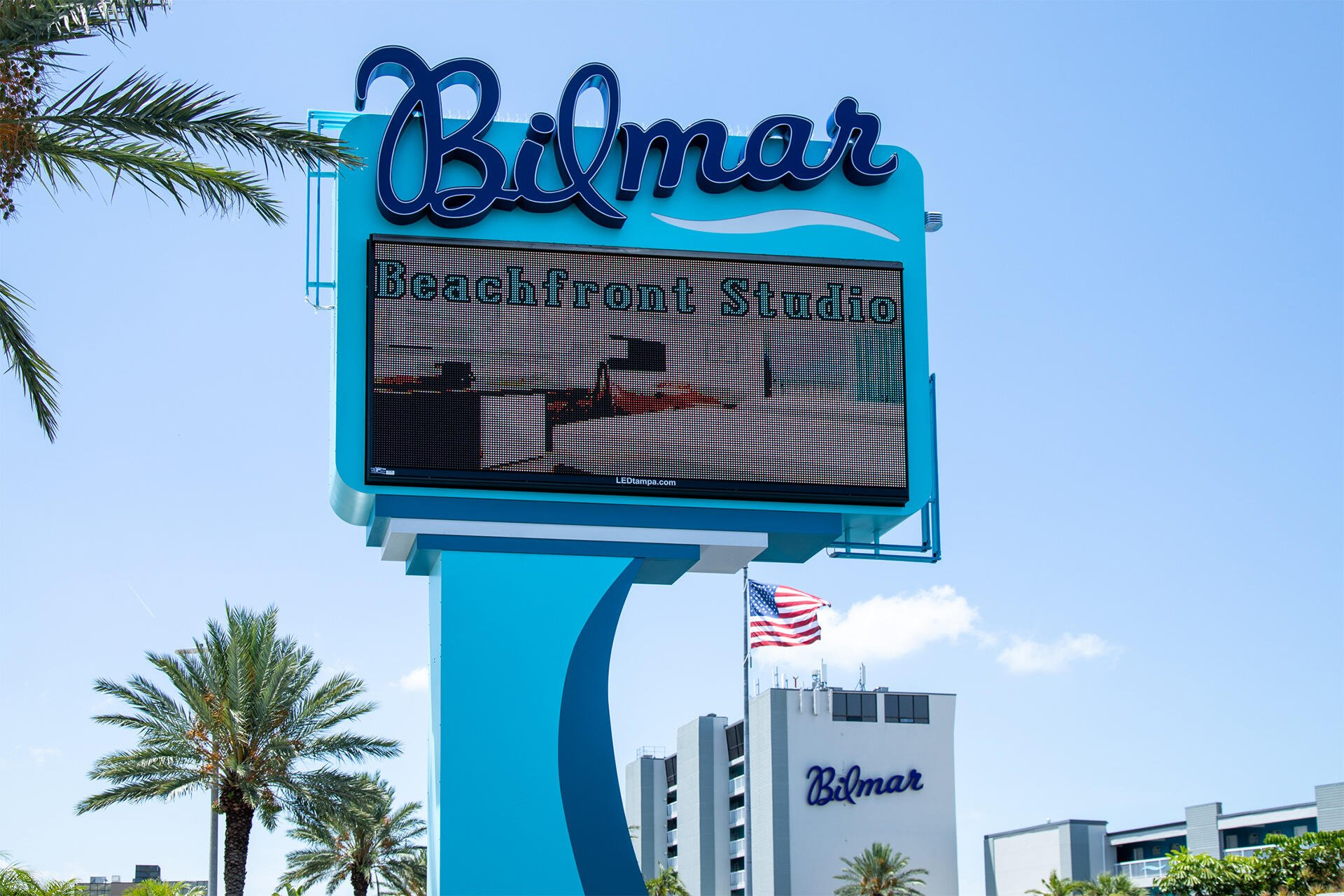 bilmar beach resort sign