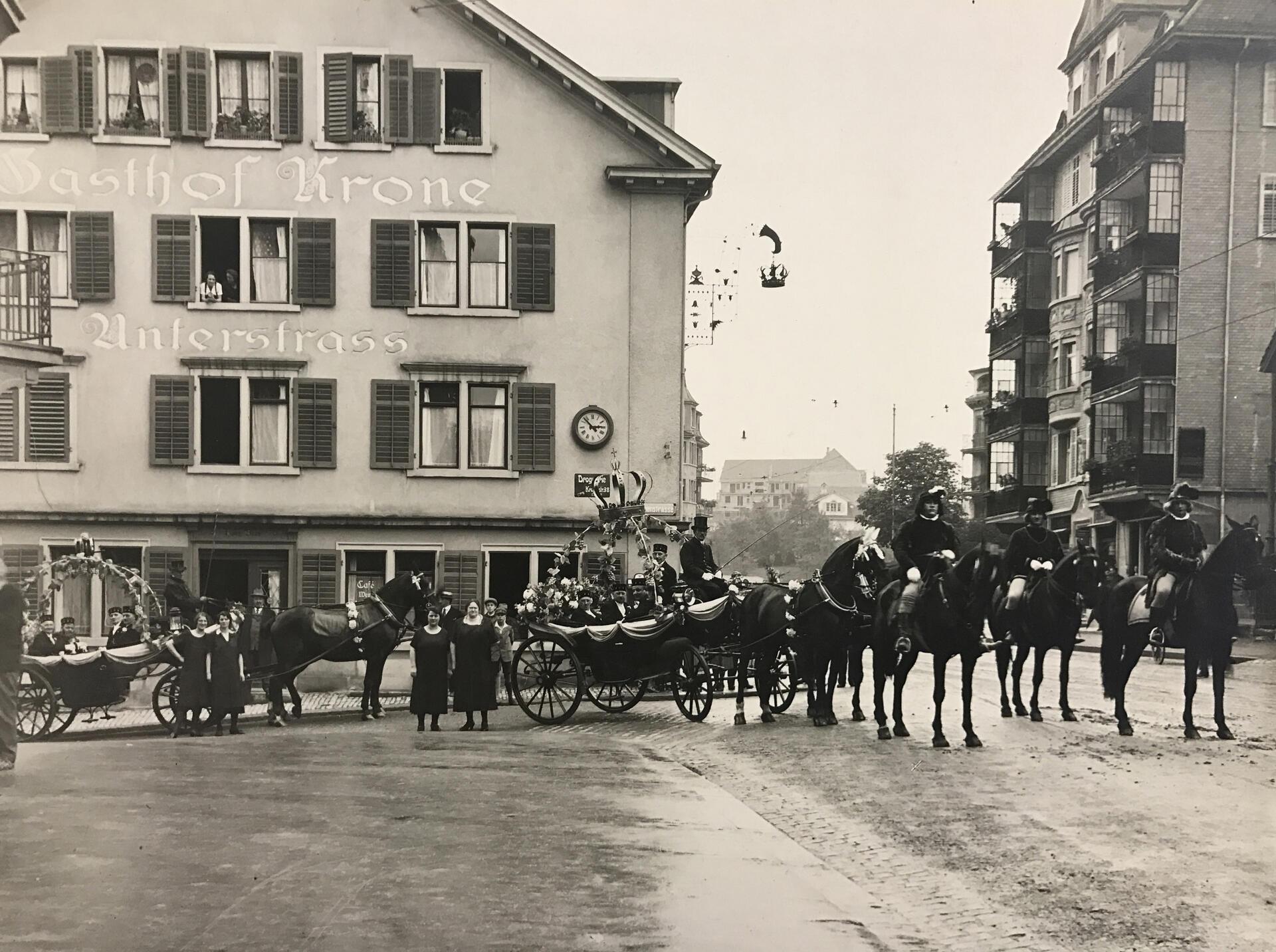 History of Hotel Krone Unterstrass