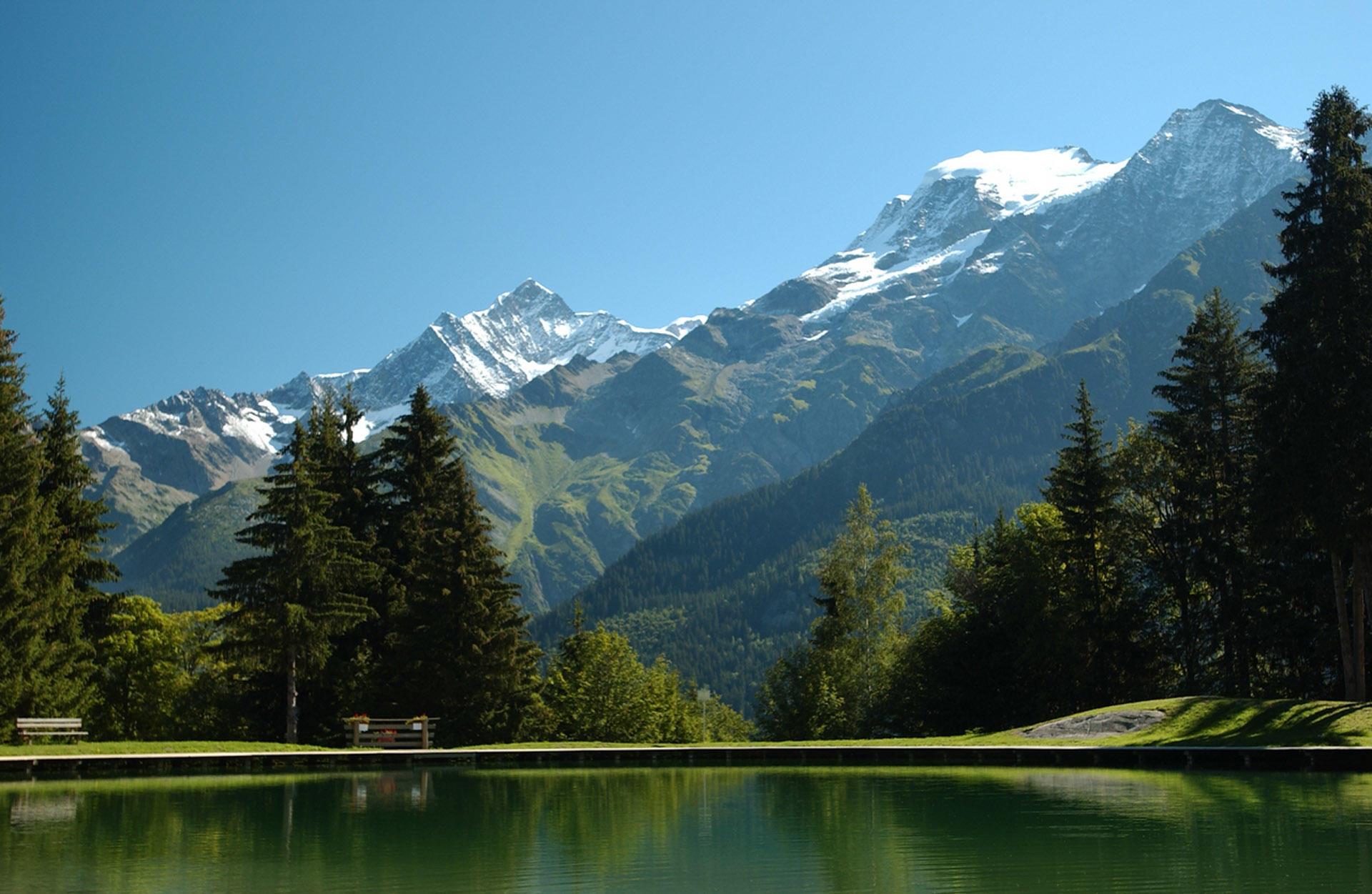 Lake near Chalet Hôtel La Chemenaz in Les Contamines-Montjoie