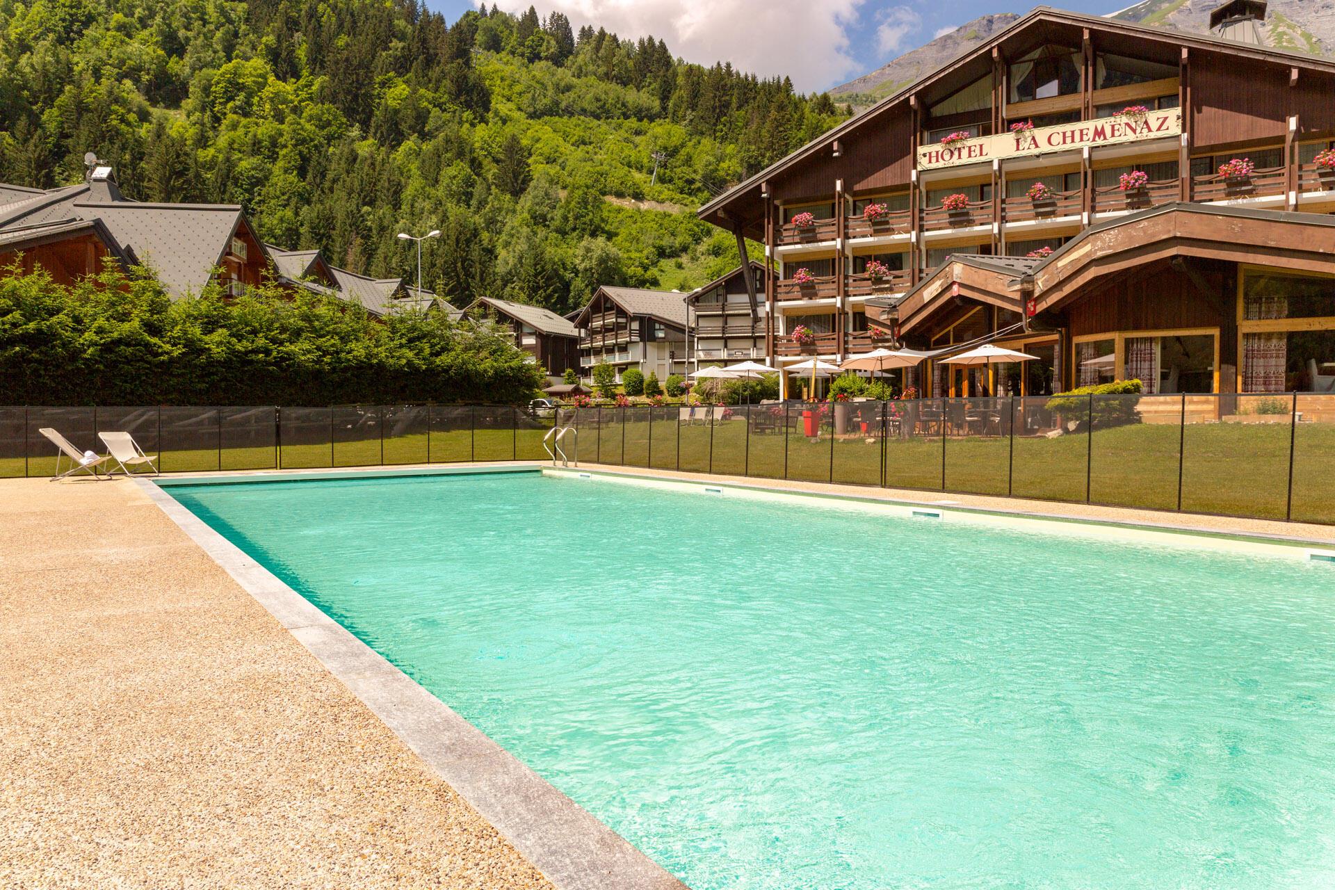 Pool at Chalet Hôtel La Chemenaz in Les Contamines-Montjoie