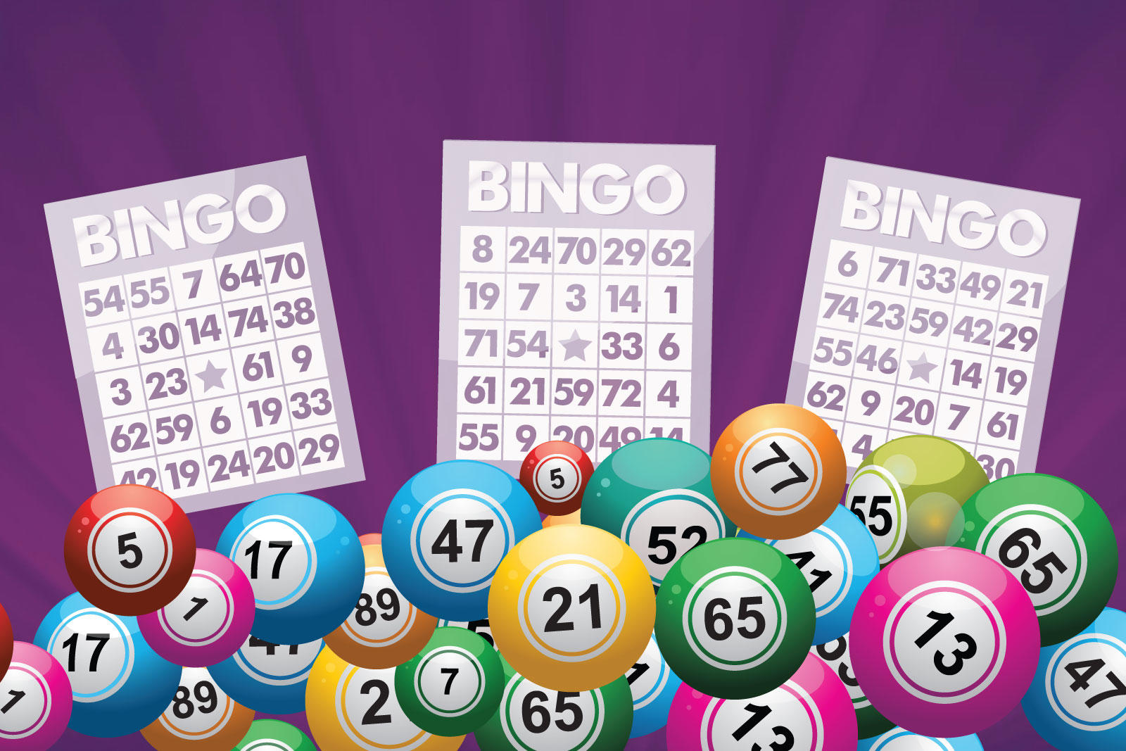 bingo balls and bingo cards